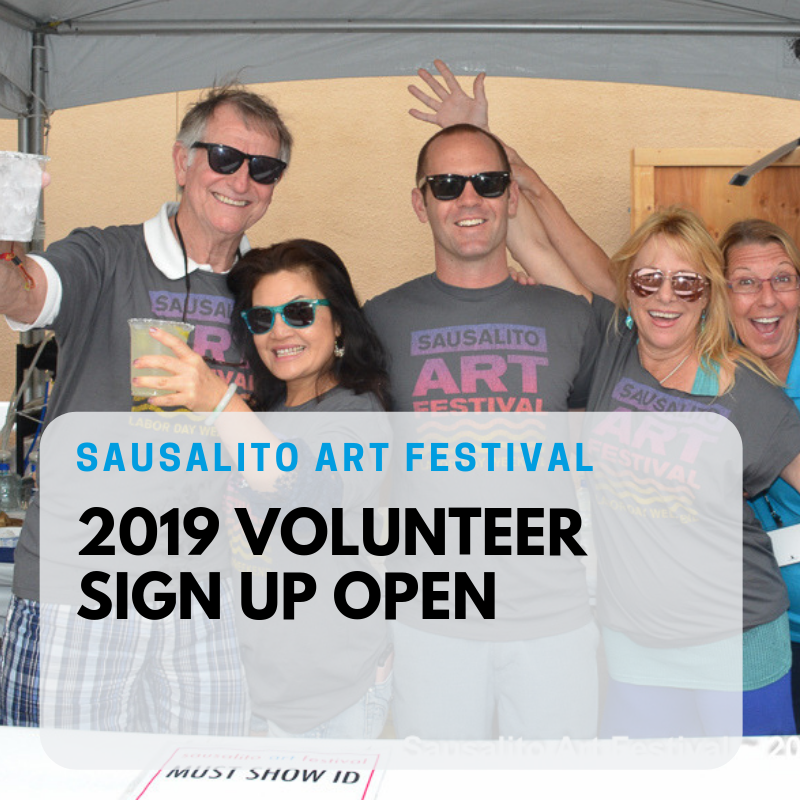 WELCOME TO THE FESTIVAL COMMUNITY! - Get into the Sausalito Art Festival free.Work a shift and spend the rest of the day enjoying the Festival.