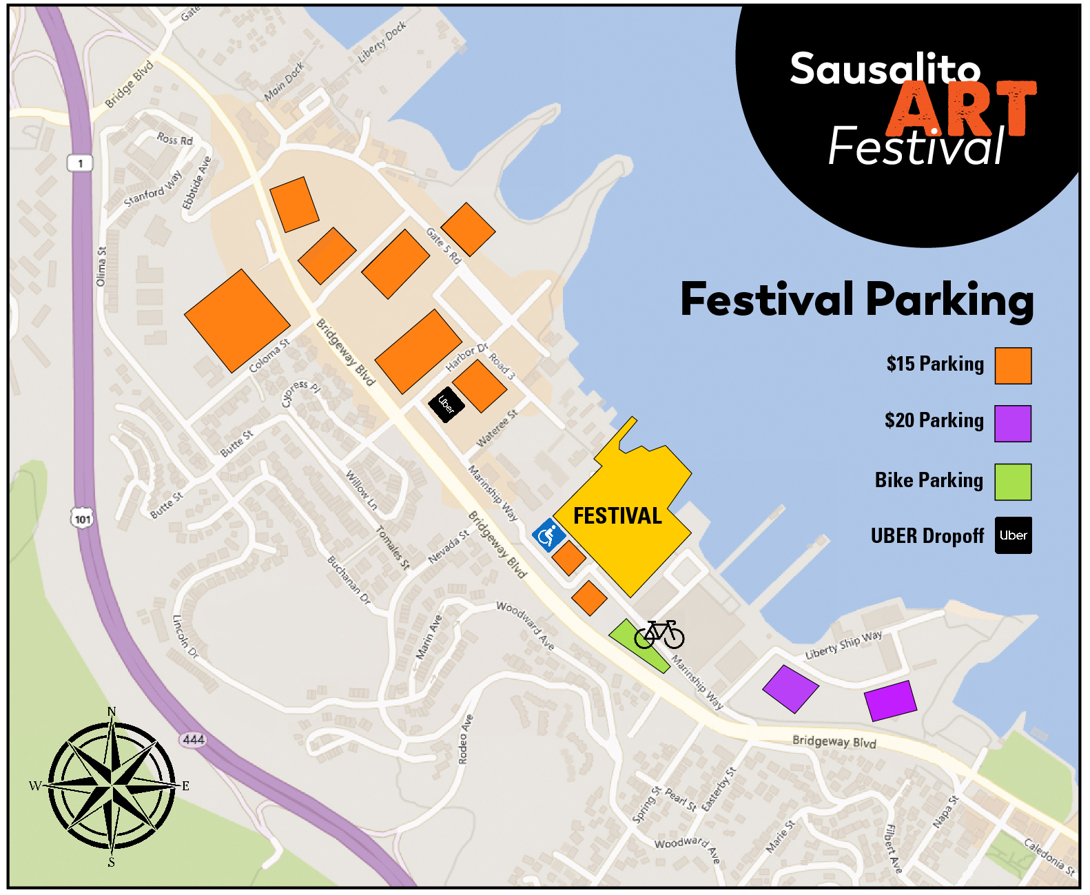 Festival Information — Sausalito Art Festival on sausalito ca on map, sausalito bay area map, mill valley ca map, sausalito restaurants, sausalito downtown map, sausalito hotels, sausalito street map,