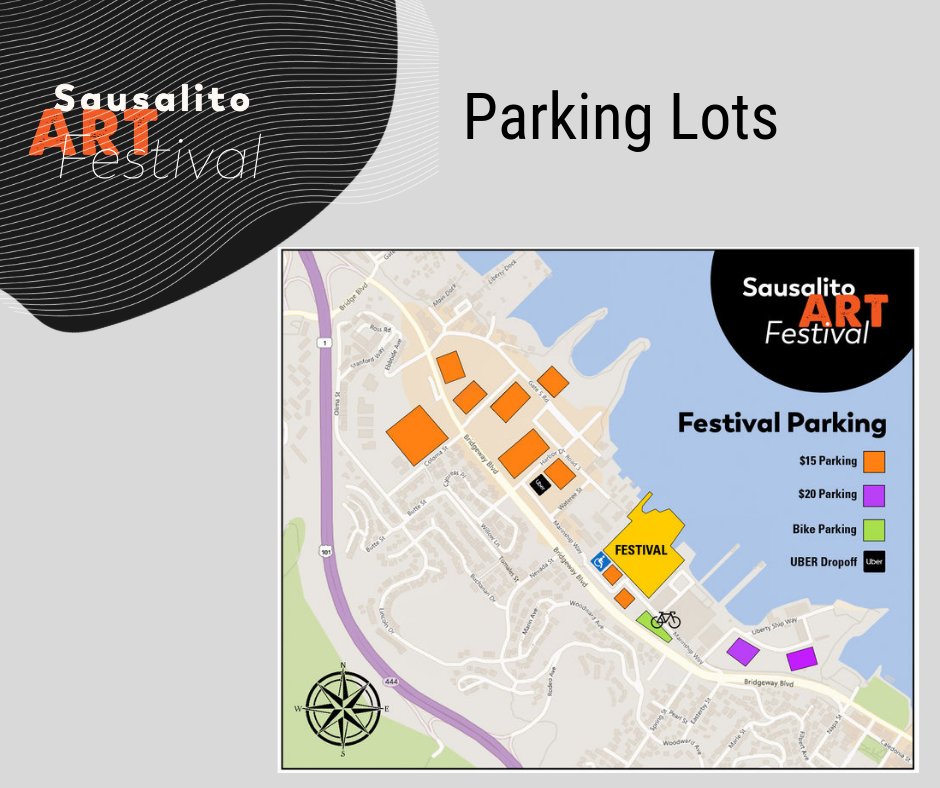 Plenty of Parking Lots - Paid parking is located on the north side of the Festival grounds. SAF lots are $15/day. Lots are well marked and flaggers help point the way.A free shuttle service is provided from all lots to the Festival gate.