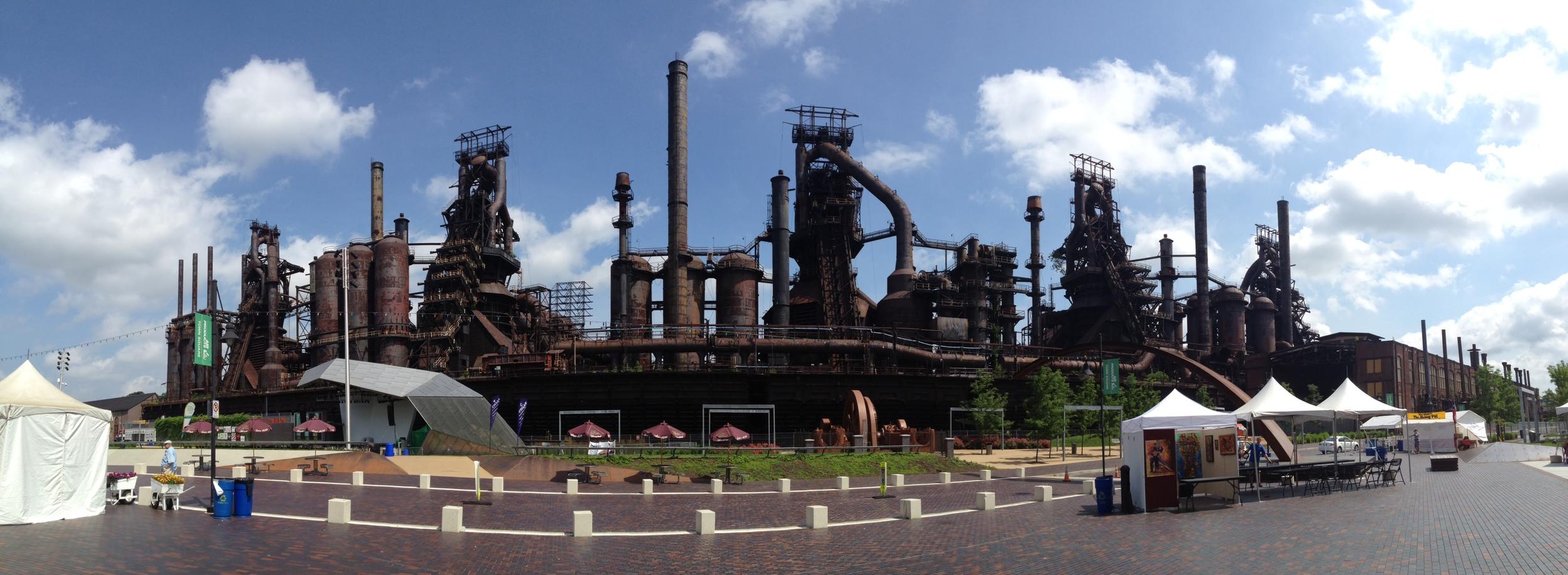 Bethlehem Steel Stacks Panorama