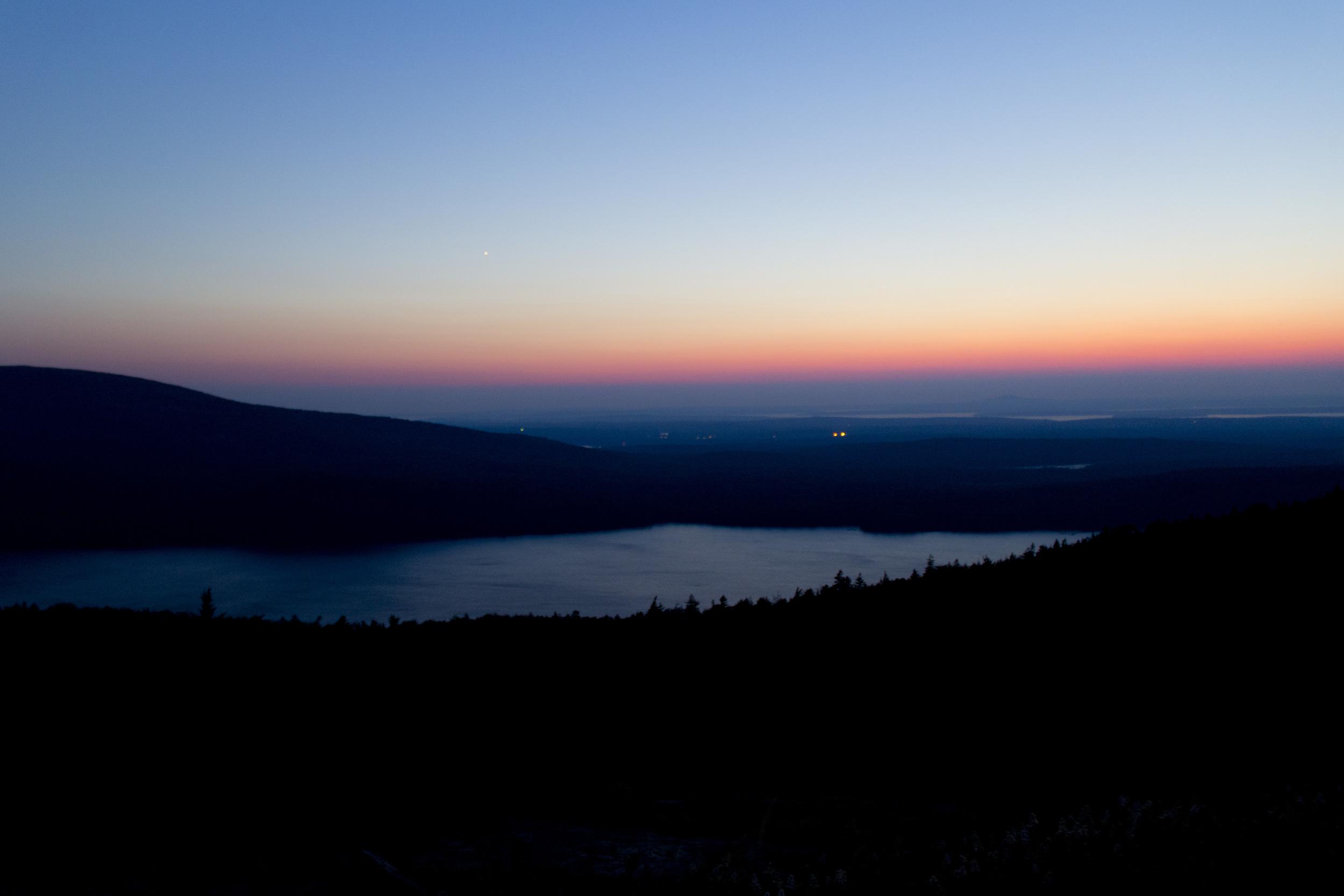 Sunset at Cadillac Mountain - Acadia National Park