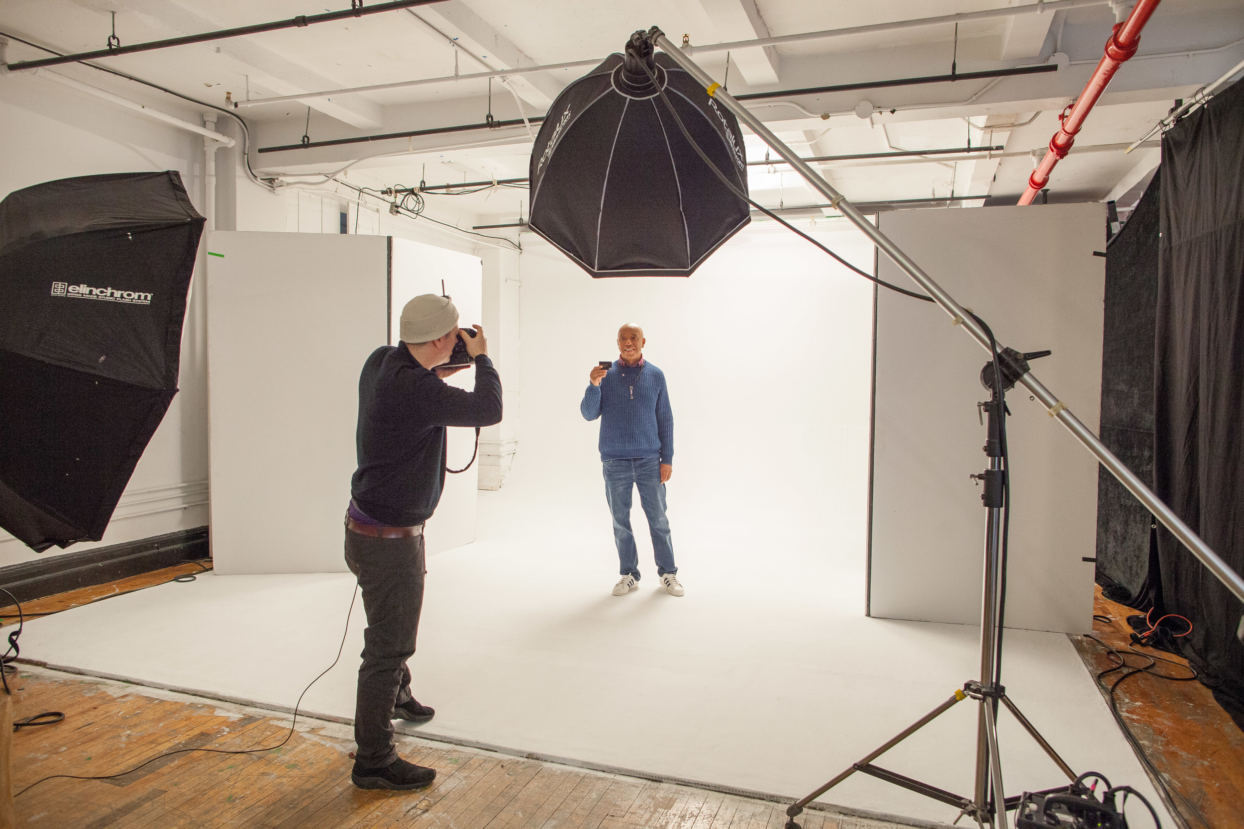 Russell Simmons BTS Photoshoot