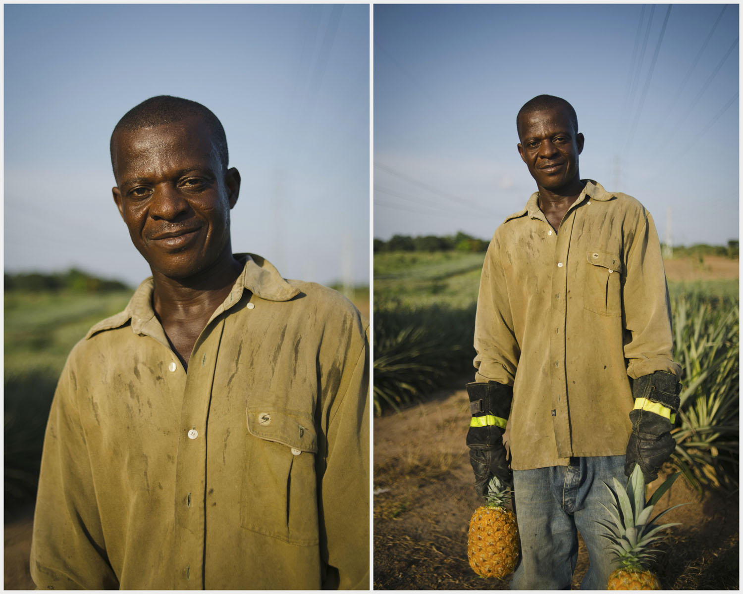 Sam. Pineapple Farm worker. Dominase, Ghana