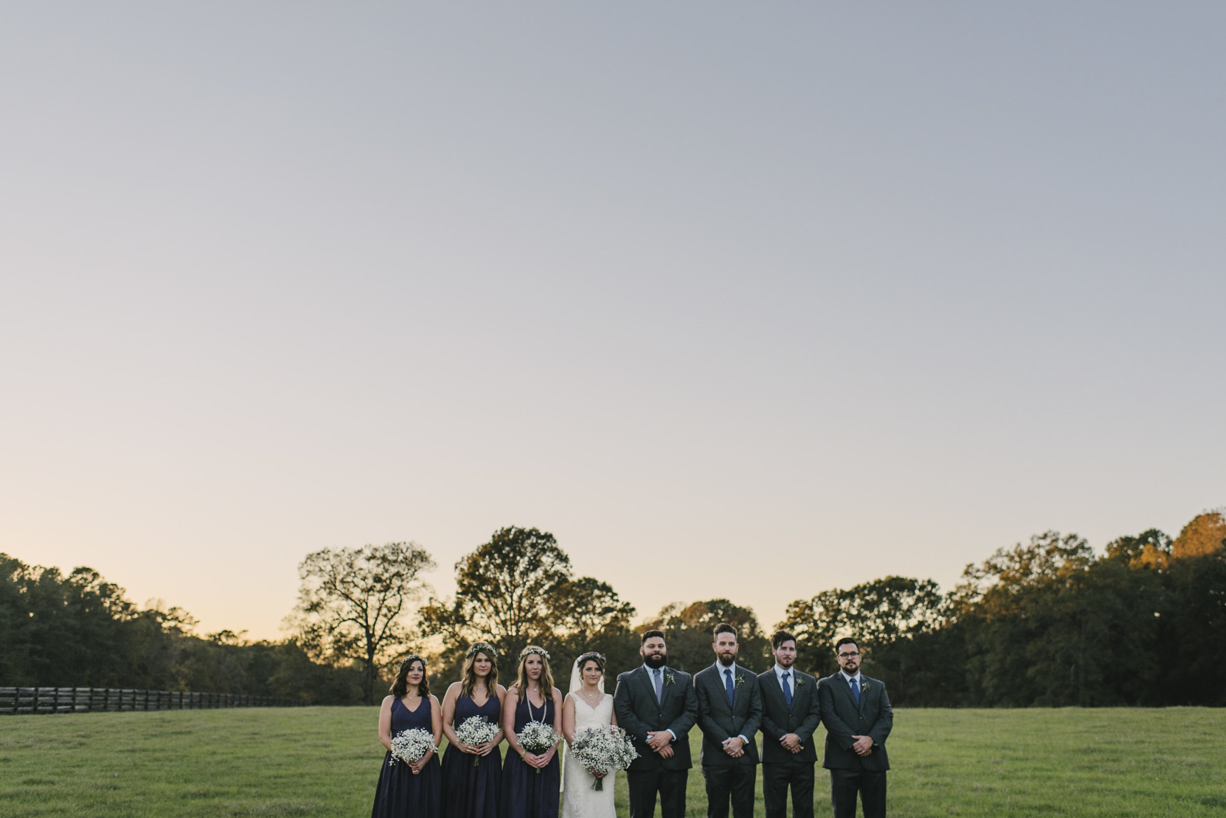 Bridal party at The Little Herb House