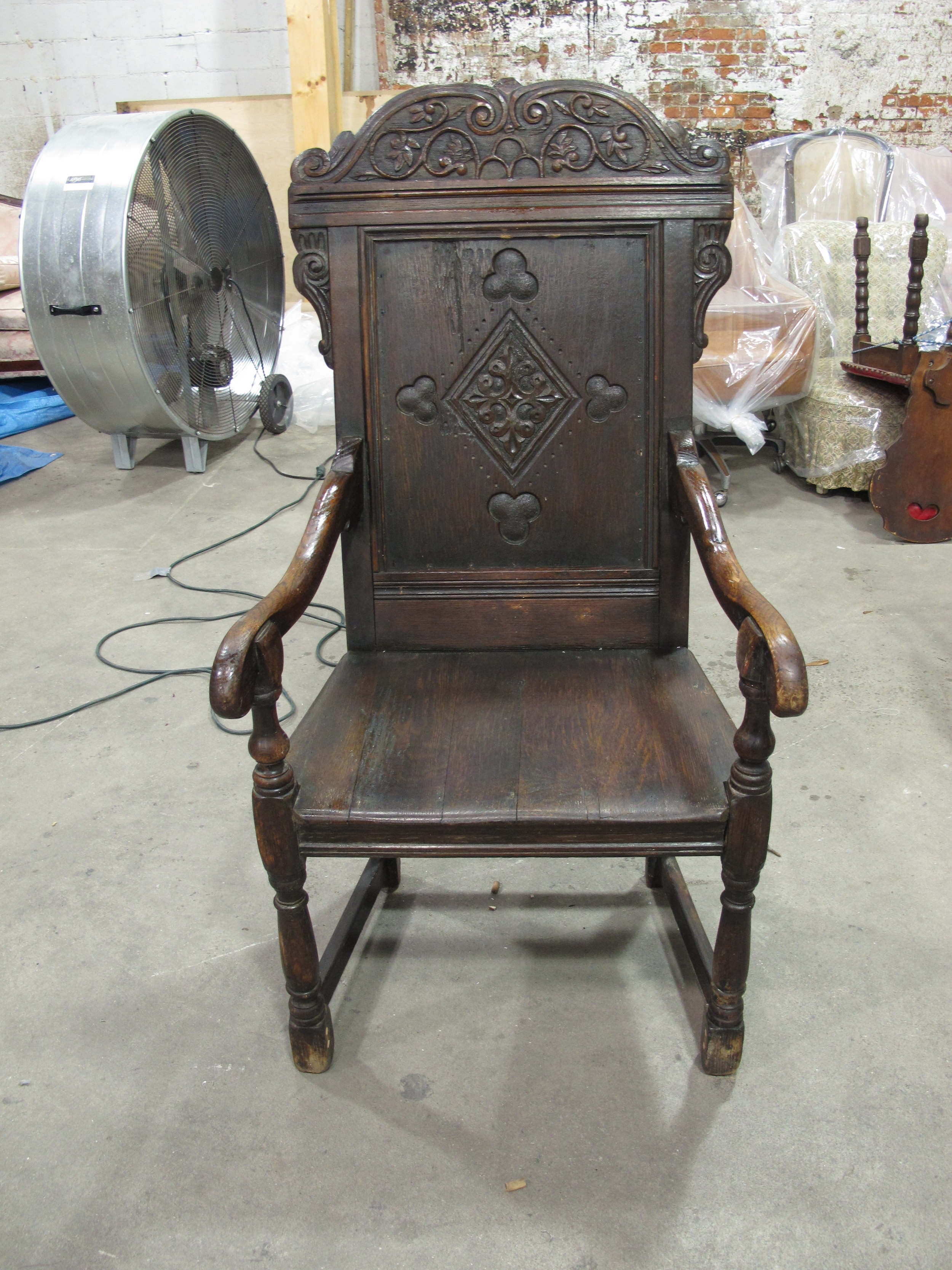 """Ace of Hearts"" Carved Wood Throne $150"