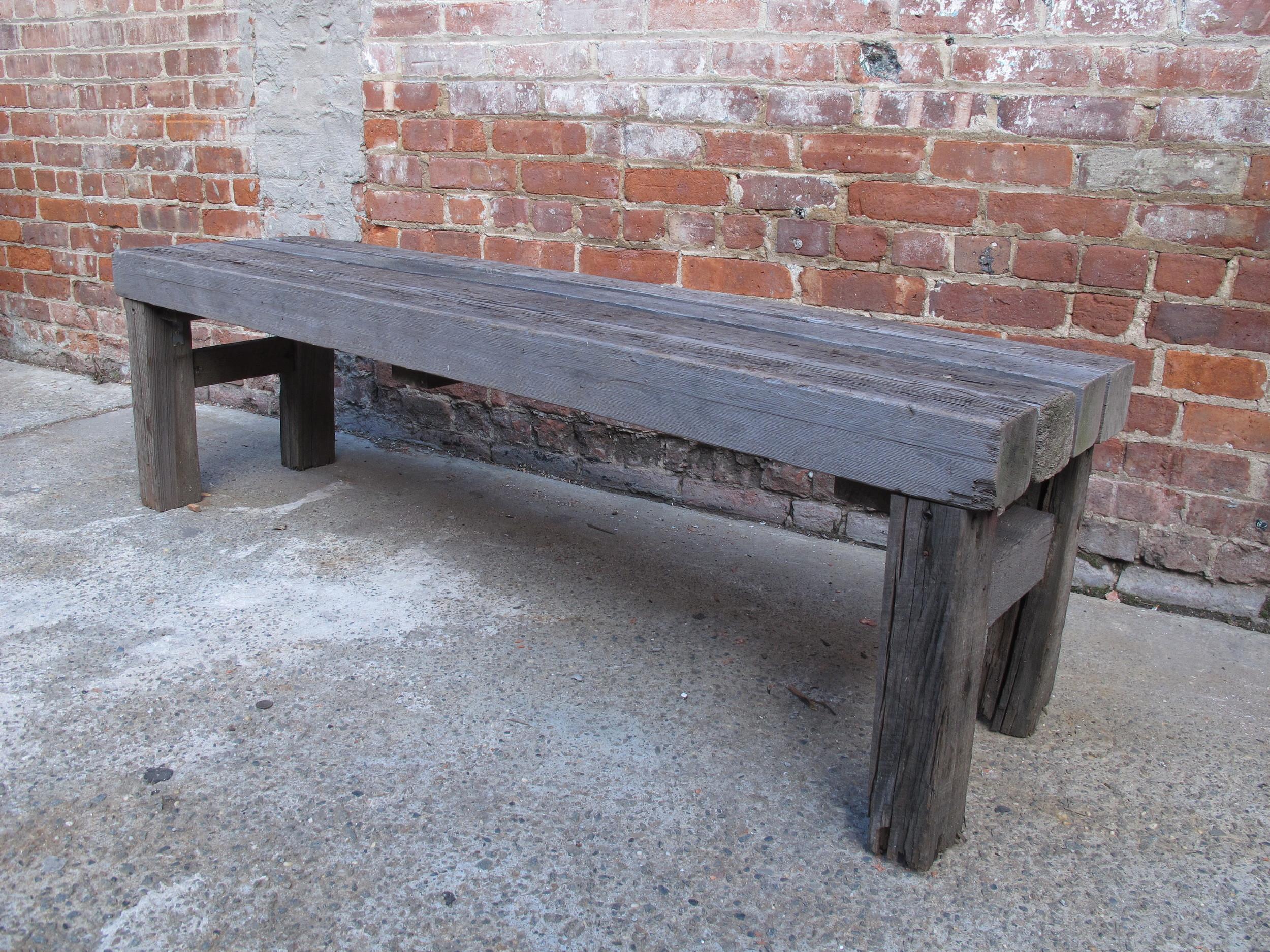 Custom-made Wood Slate 4x4 bench $60