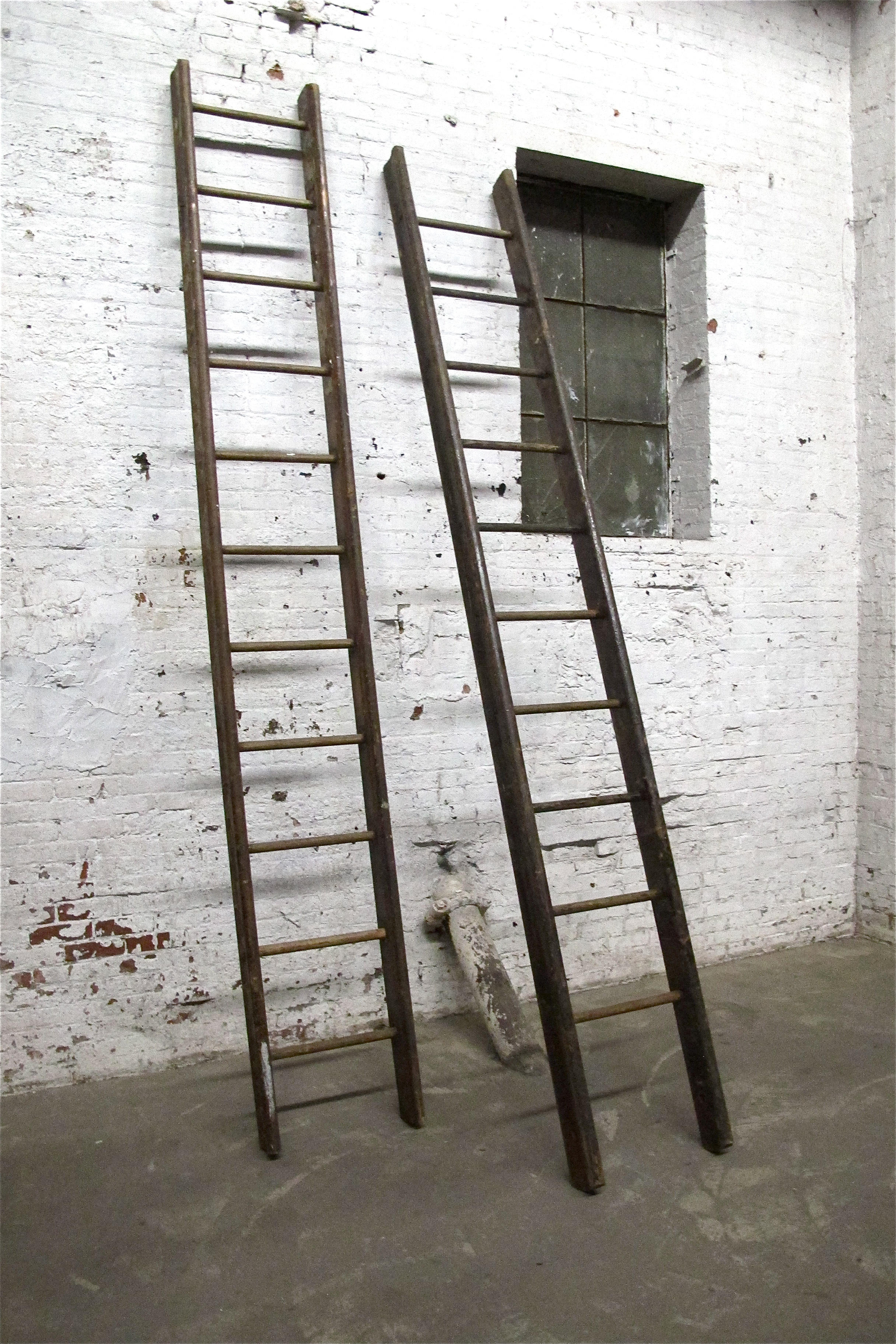 "Twin Large Wood ""LIbrary Ladders"" (2) $75"