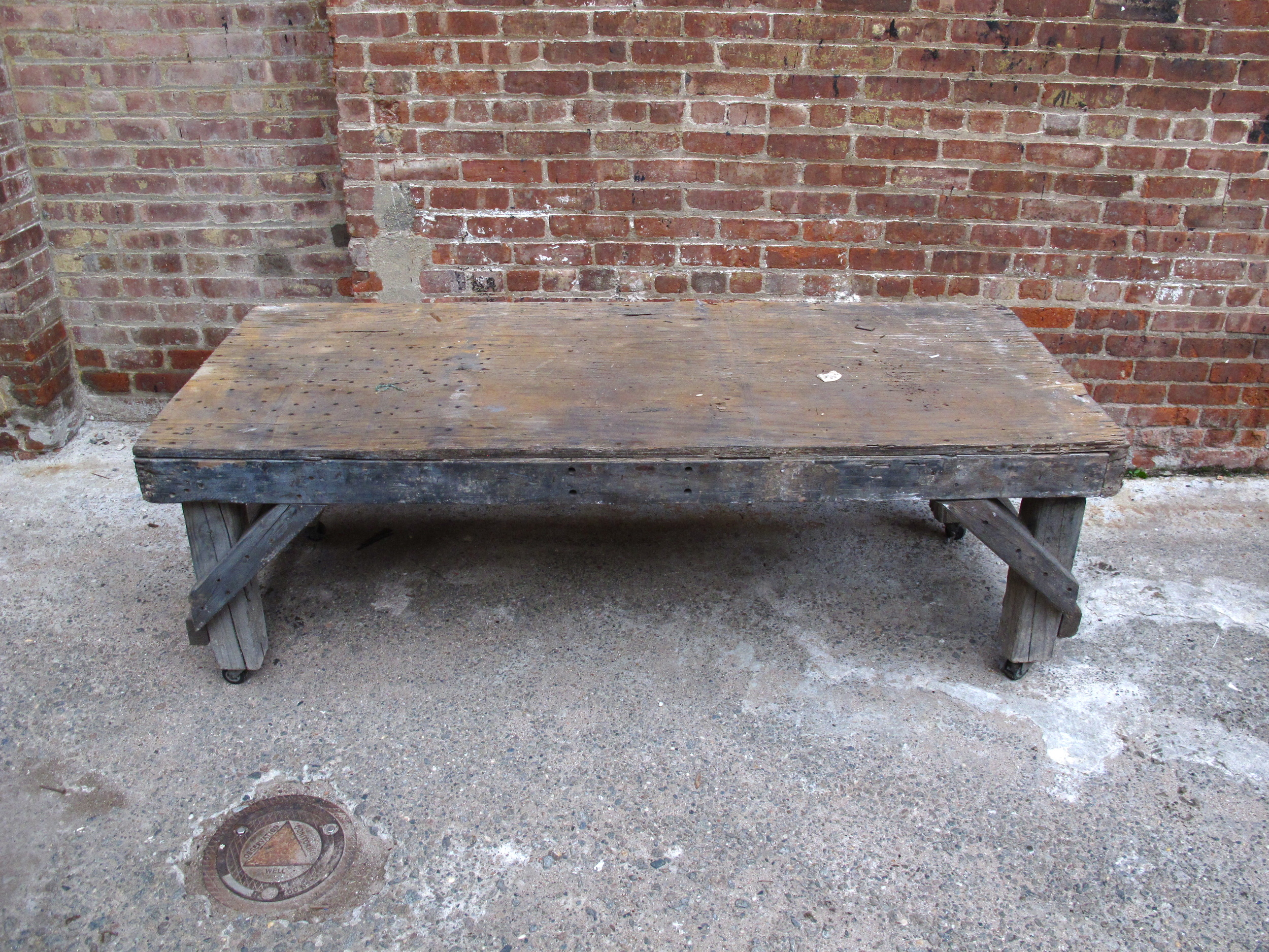Low Rolling Yard Table $75