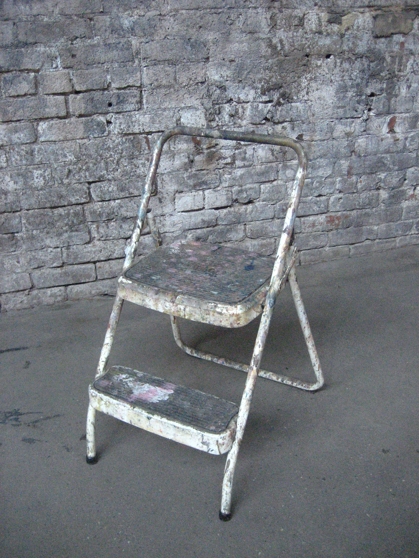 Painter's white 2-step stool $30