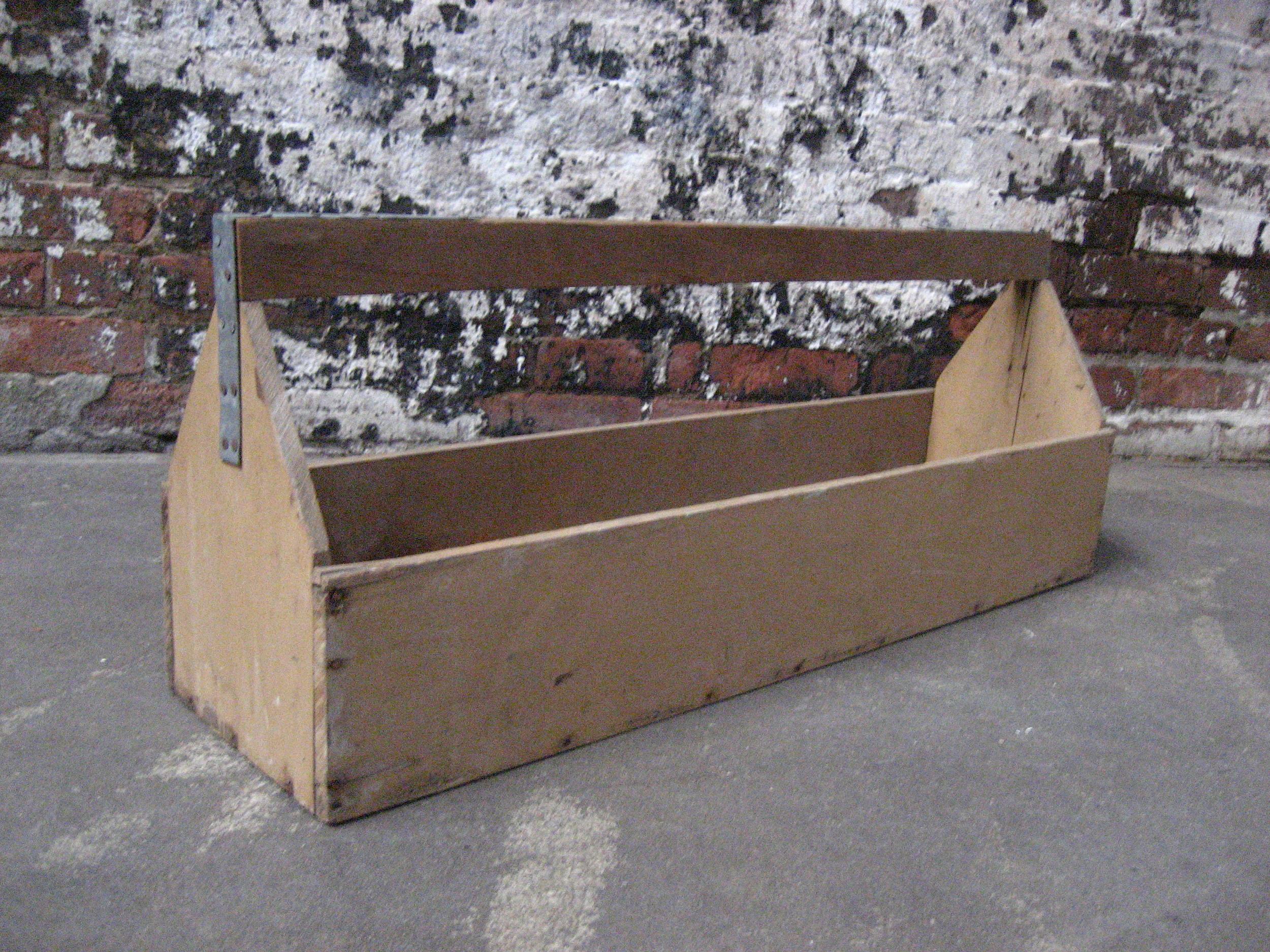 Long Skinny Wood Toolbox $45