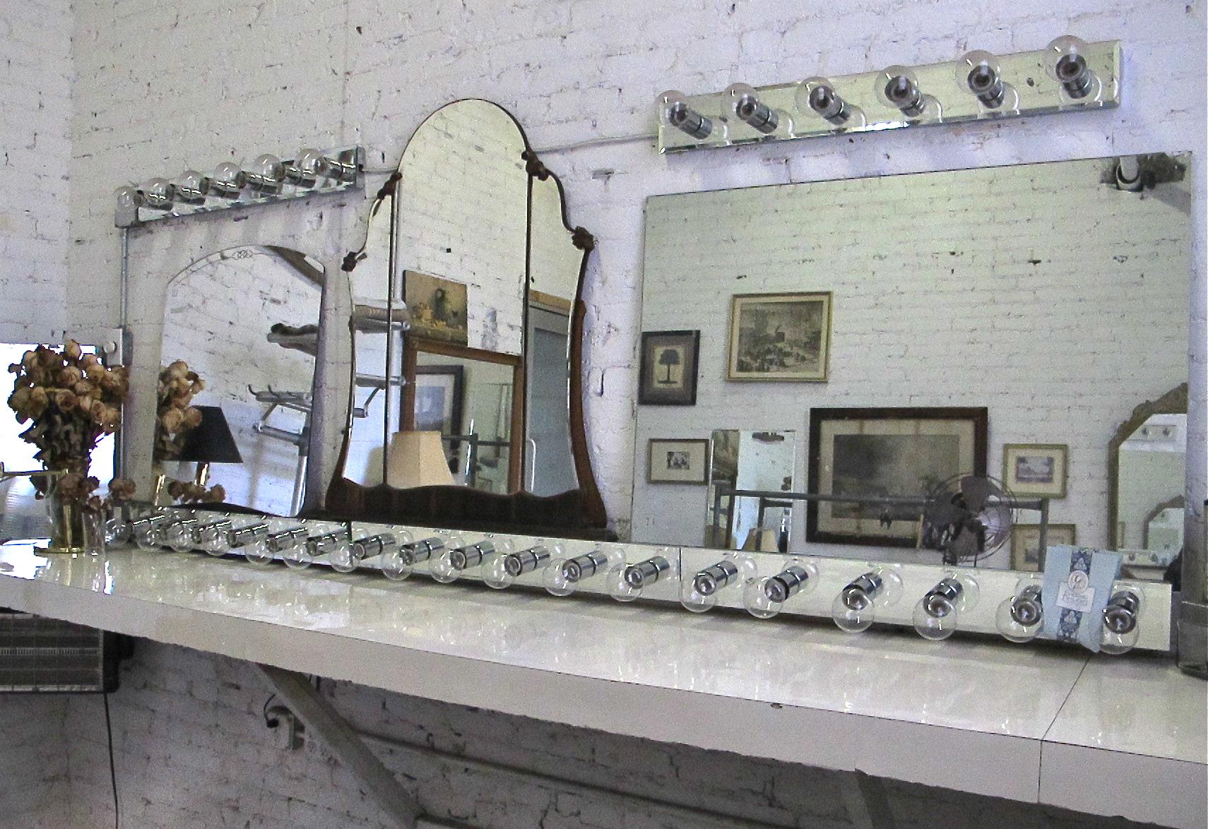Vanity mirrors and lights