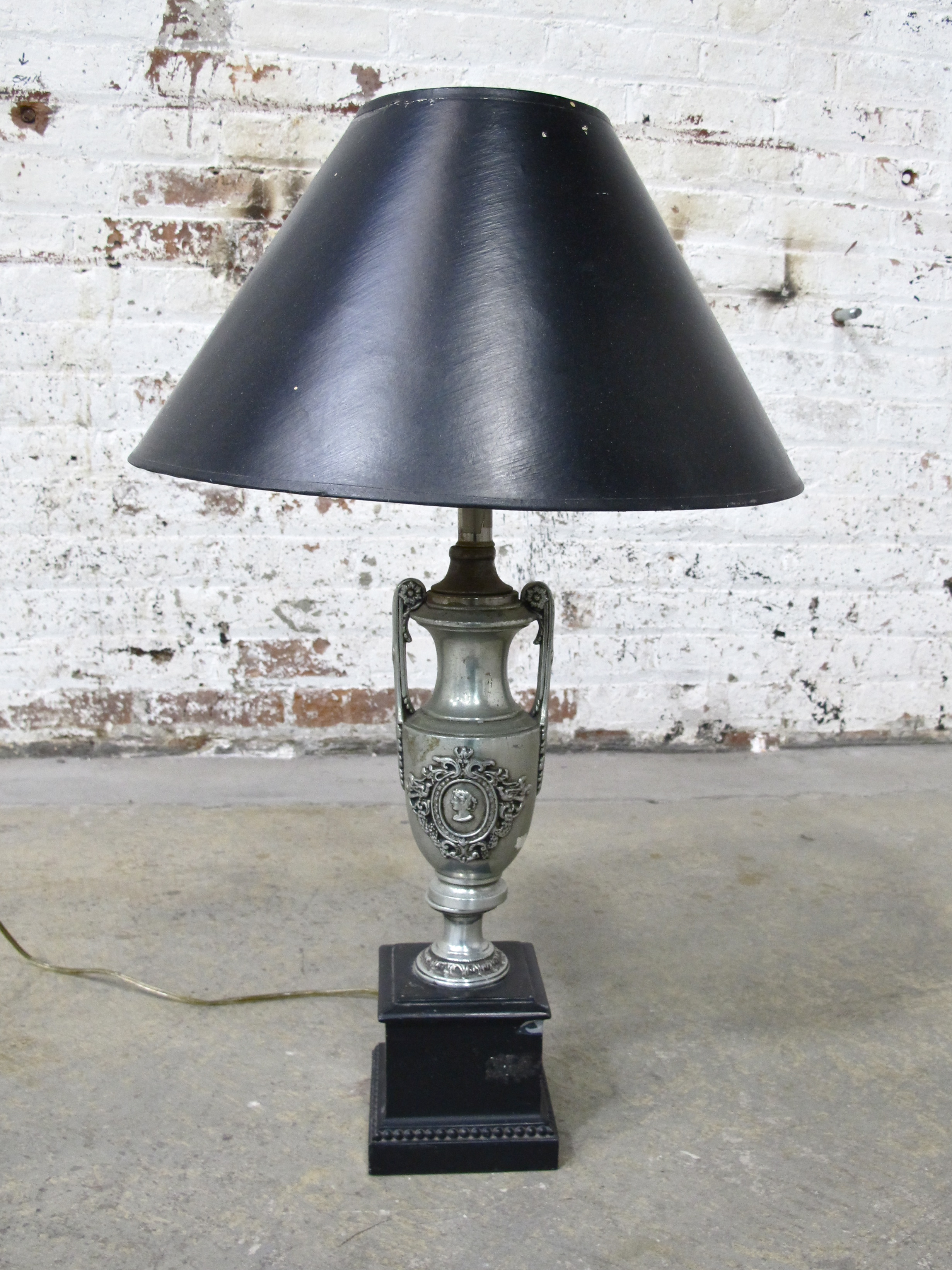 "Black ""Trophy"" Lamp $65"