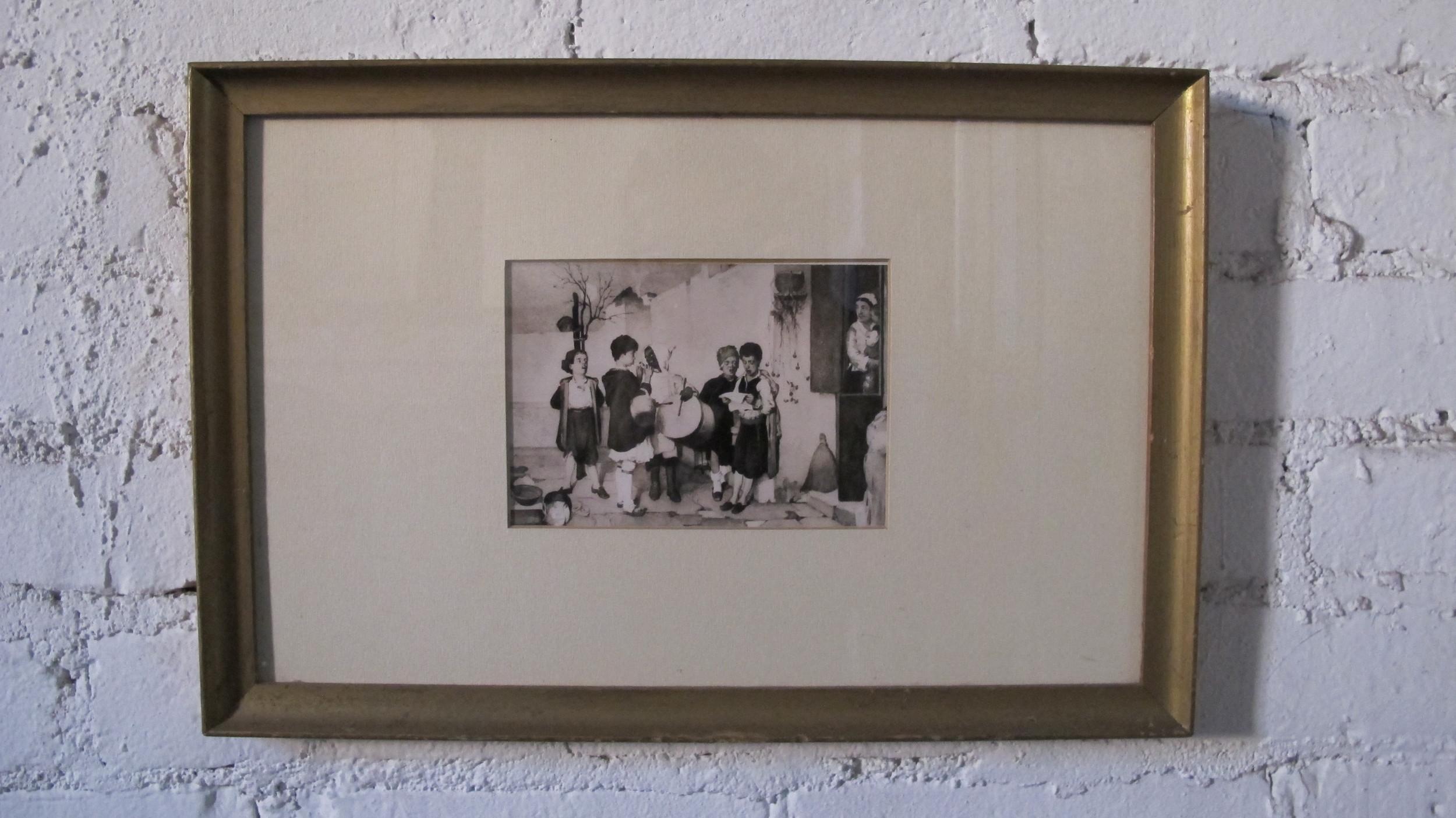 Framed Child Musicians $60