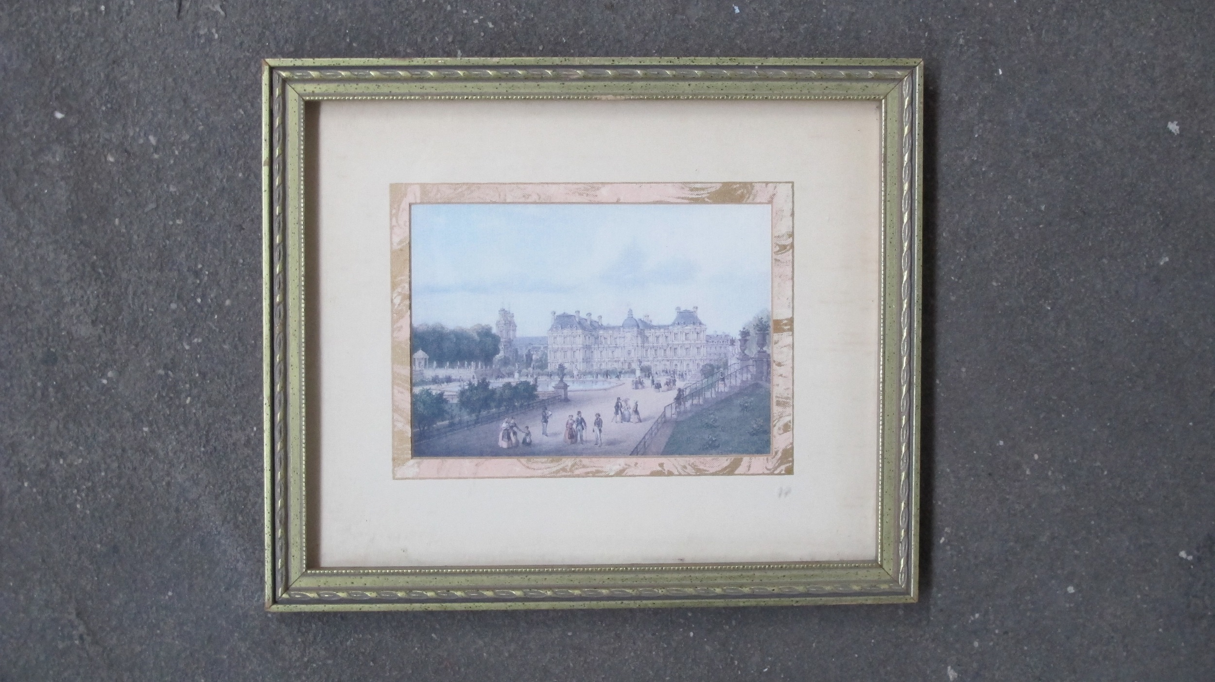 Framed Outside French Parliament $60