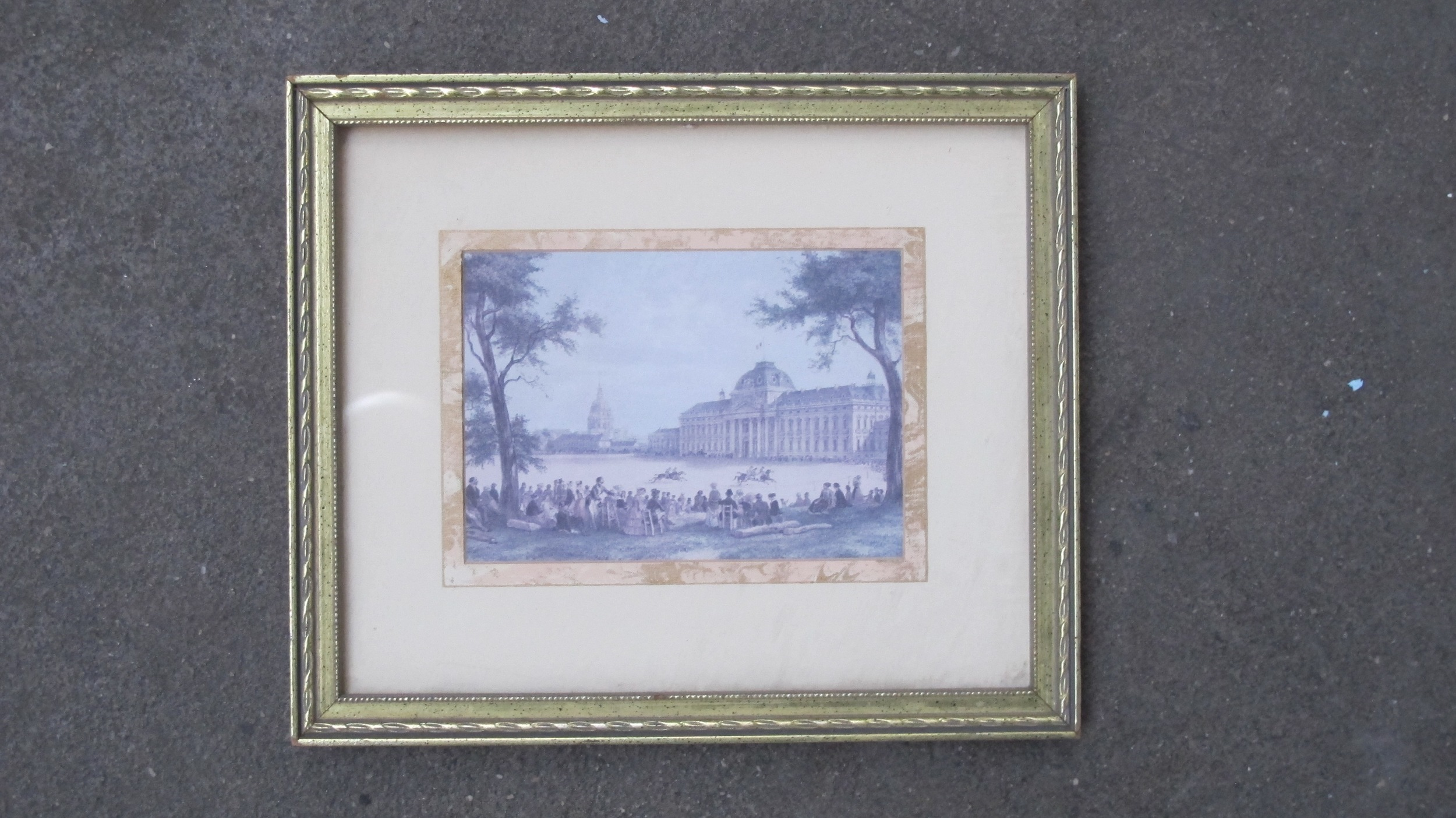 Framed Horse Race and Building $60