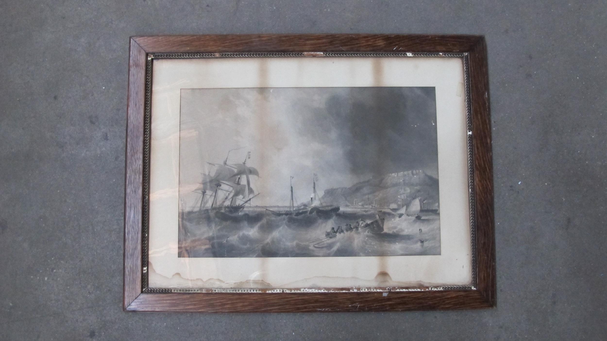 Framed Ships at Sea $60