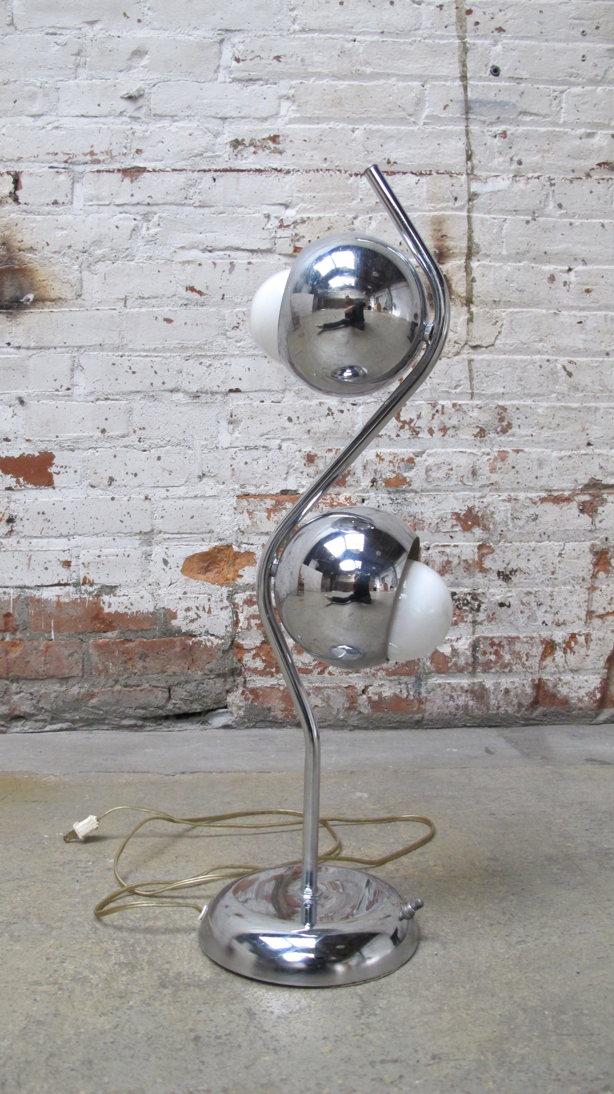 Silver Orb Lamp $40