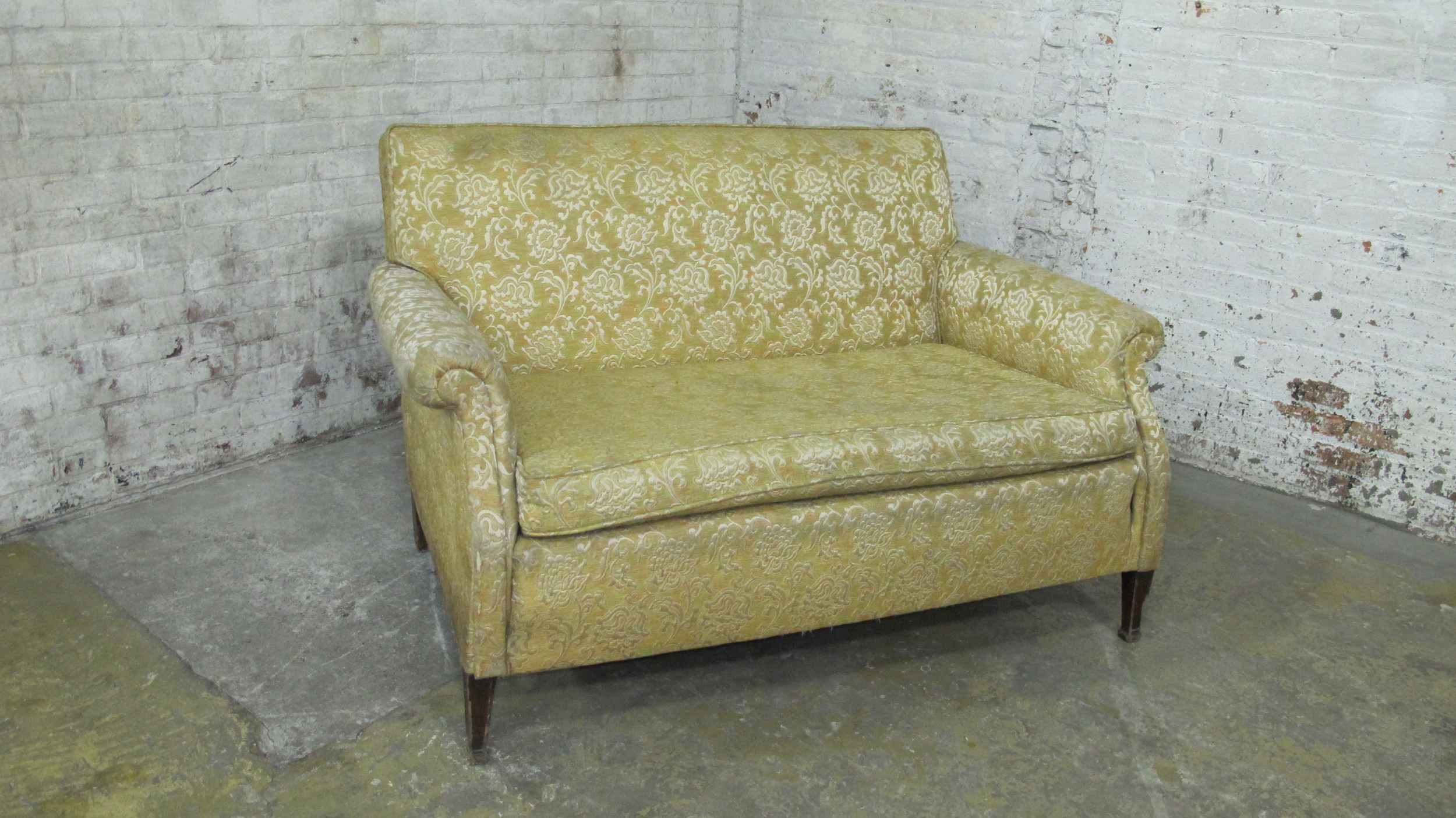 Yellow Upholstered 2-seater Sofa $200