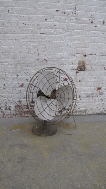 Rusted Antique Desk Fan $60