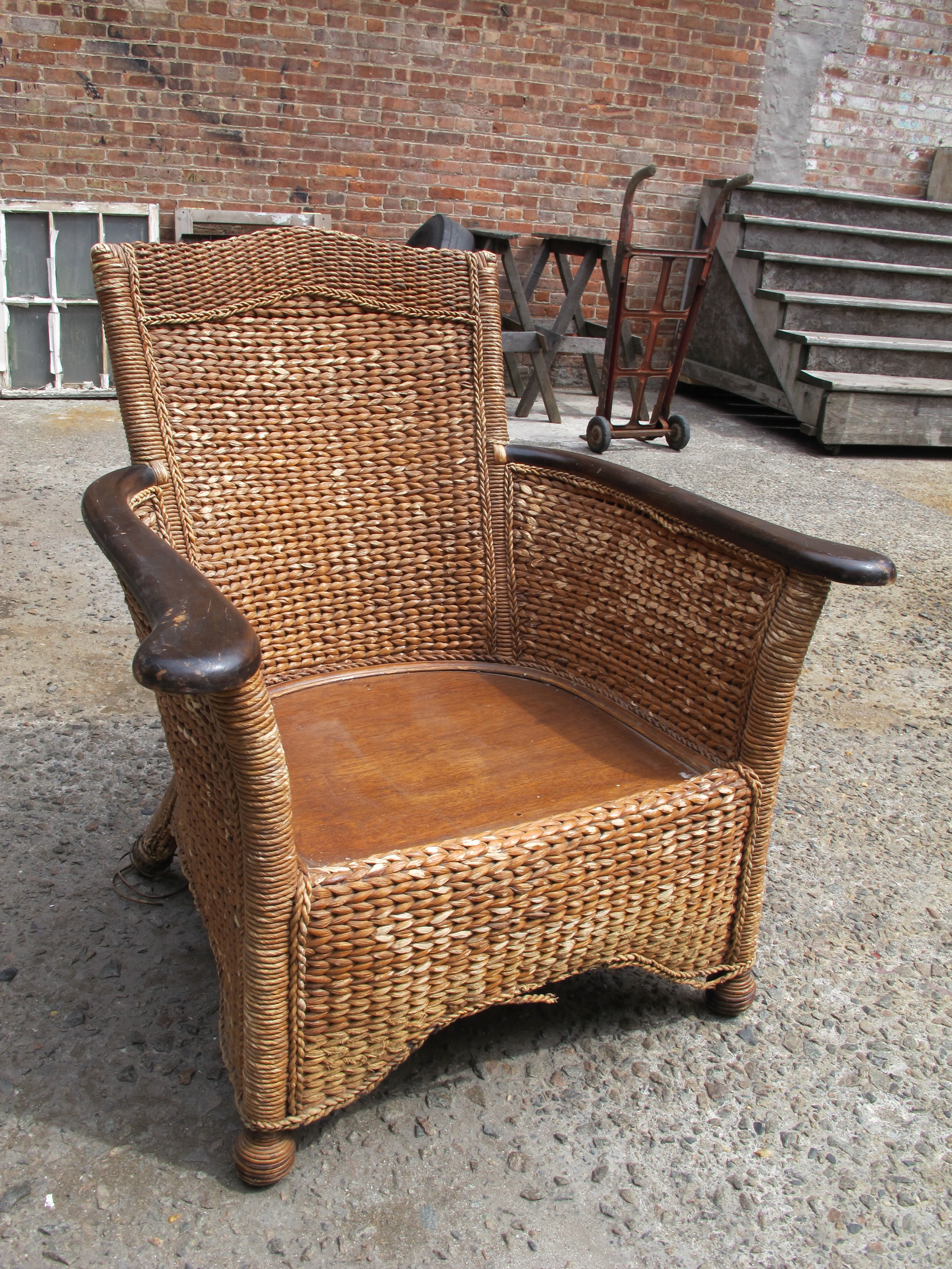 Wicker Outdoor Arm Chair $85