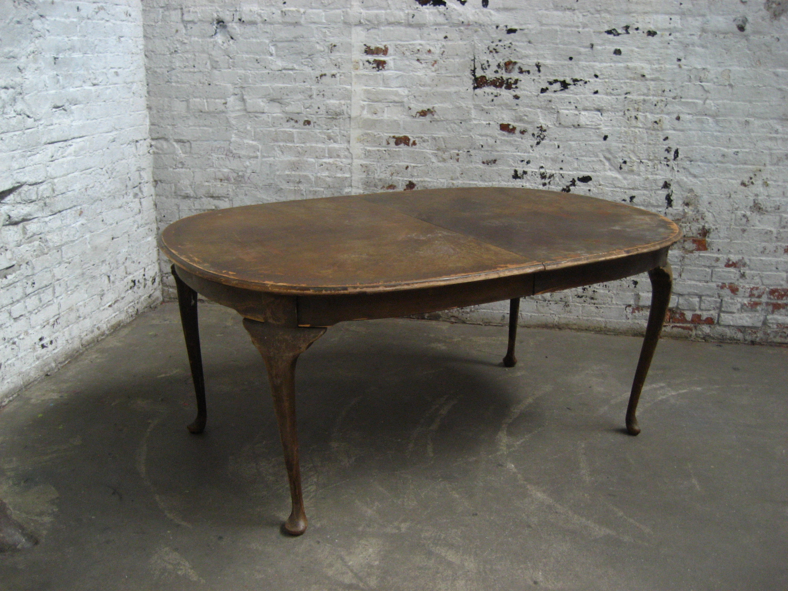 Large Wood Dining table (worn) - ASSEMBLY REQUIRED $200