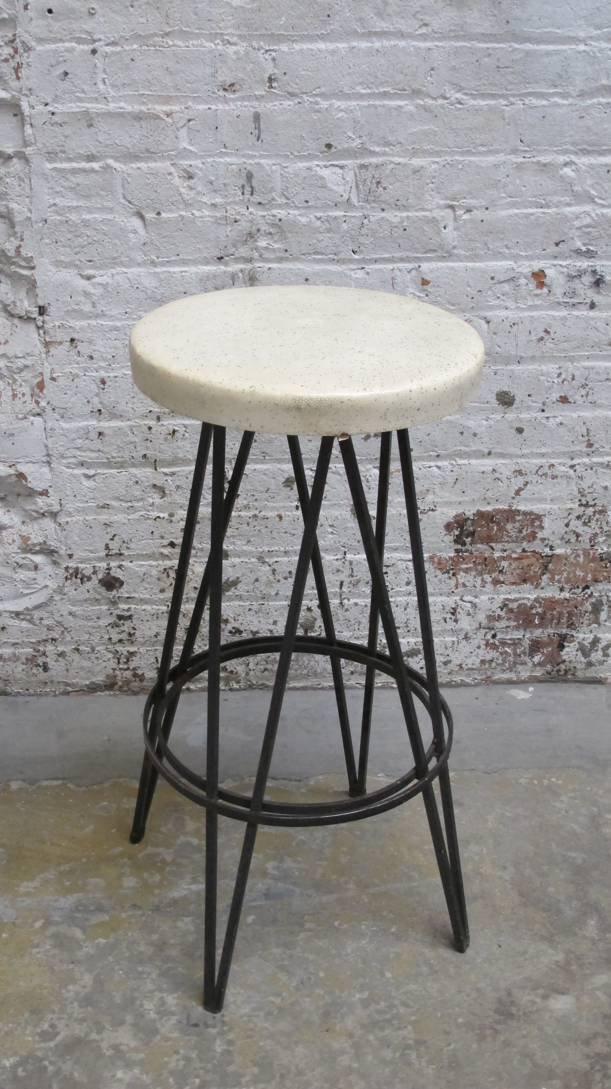 RSS Cast Iron Stool with Sparkle Seat $75