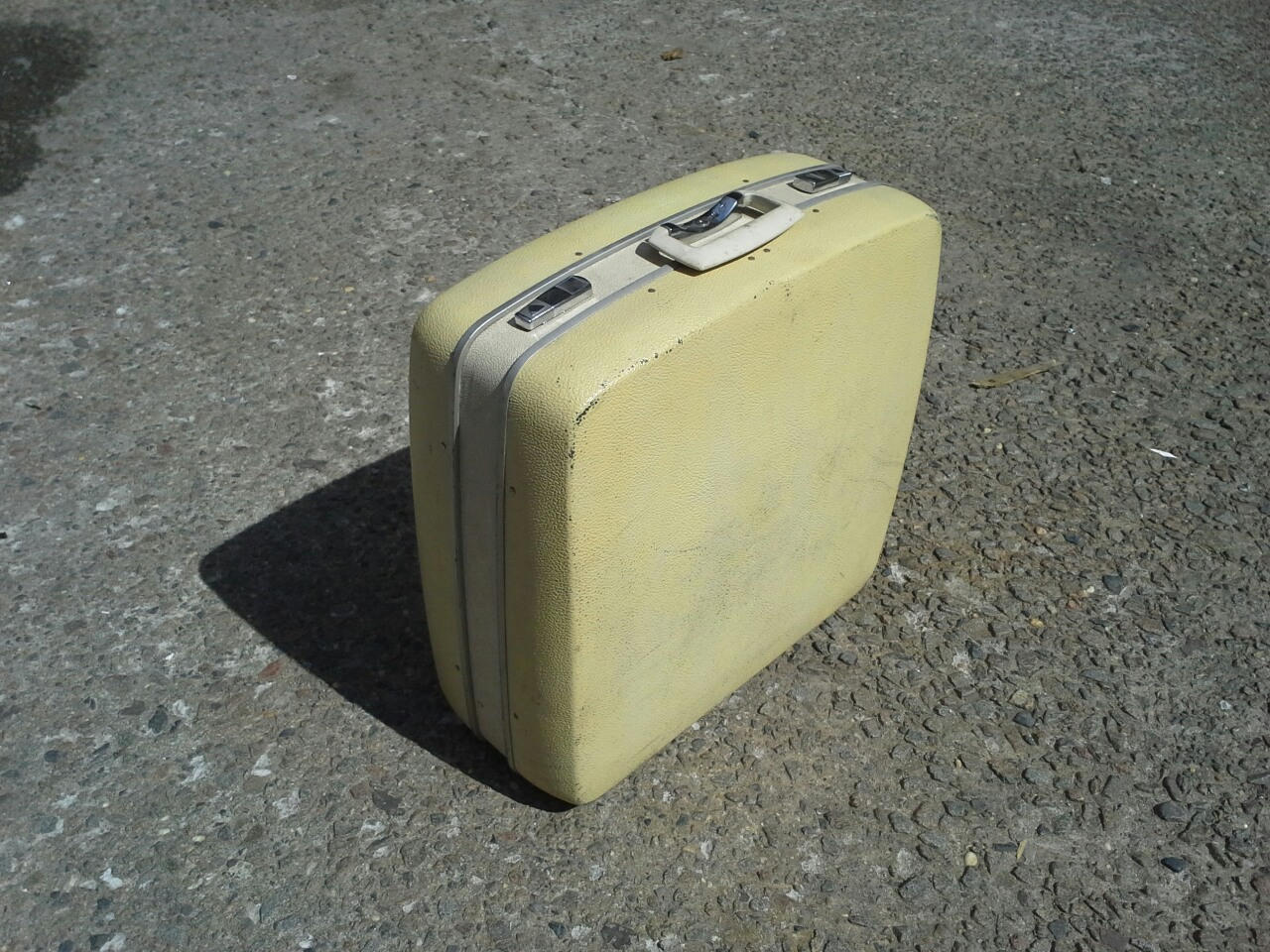 Pale Yellow Suitcase $65