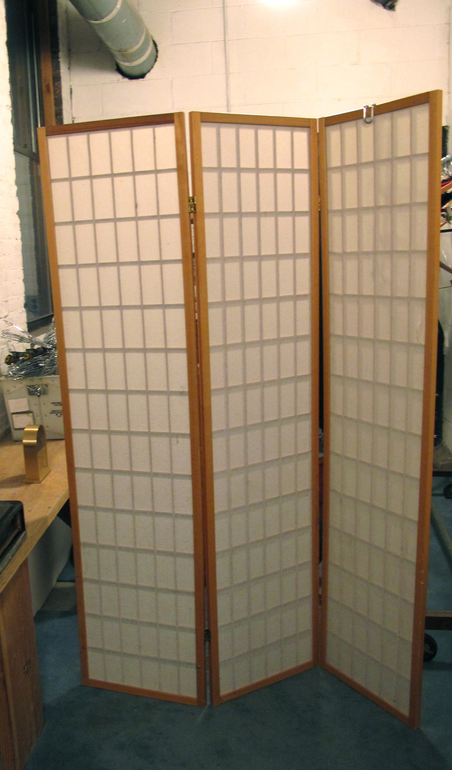 Bamboo and White Room Divider $50