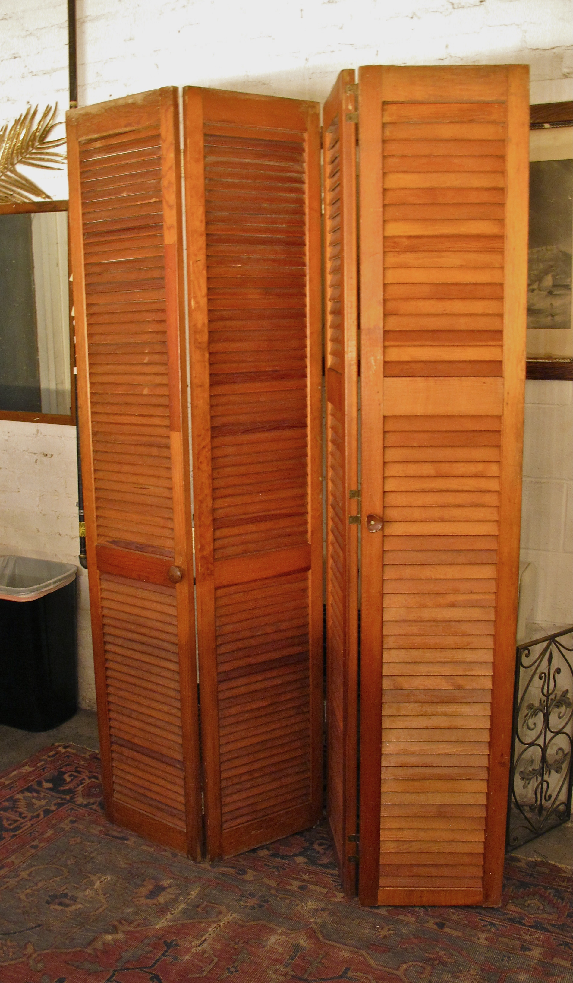 Wooden Shutter Partition$75