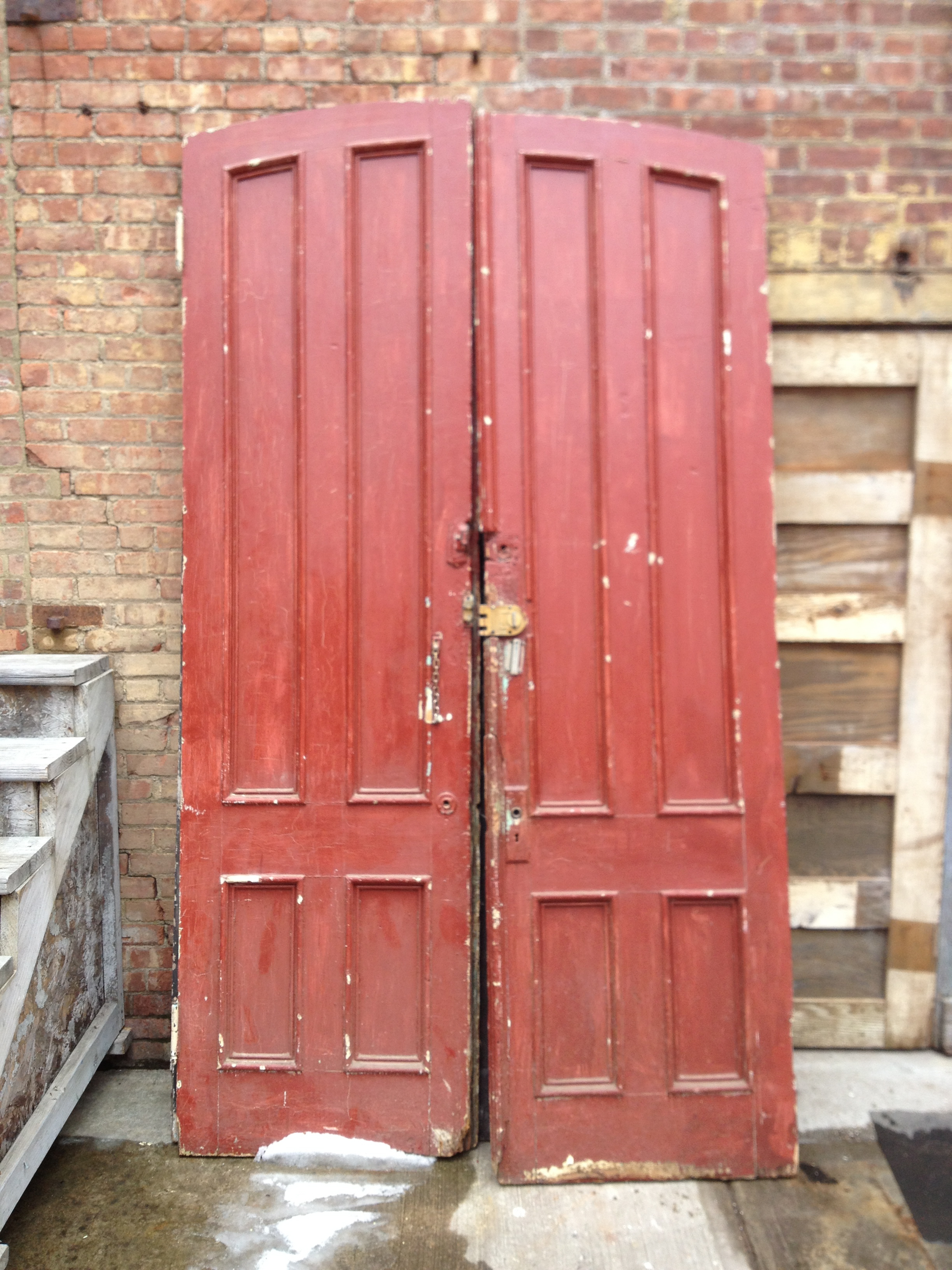Large Arched Red Doors $100/ea
