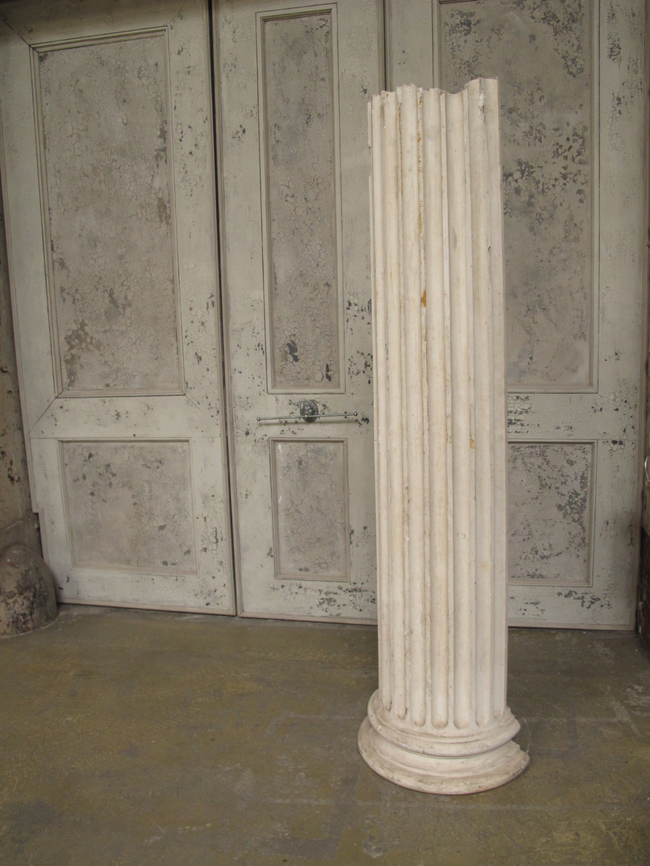 White Greek Column $75