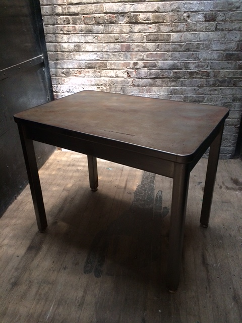 """RSS Aged metal table_2'x3'x30""""H $150"""