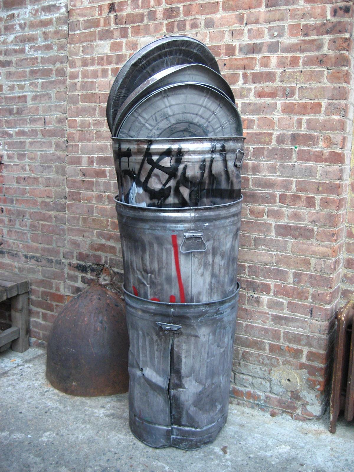 Metal Garbage Cans $25
