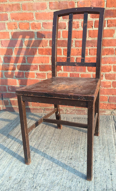 RSS Worn Seat Chair (looks wood, made of metal) $60