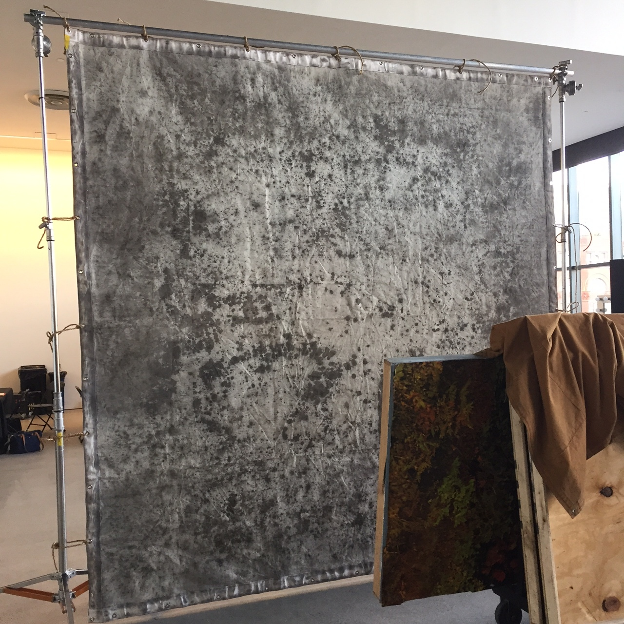10.5' x 11' Grommetted backdrop - side 1 $300