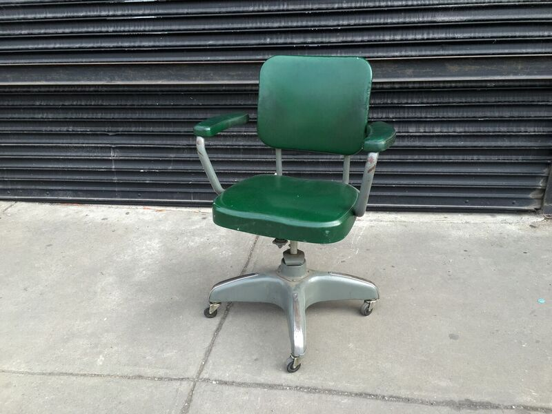 CN Green Rolling Office Chair $60
