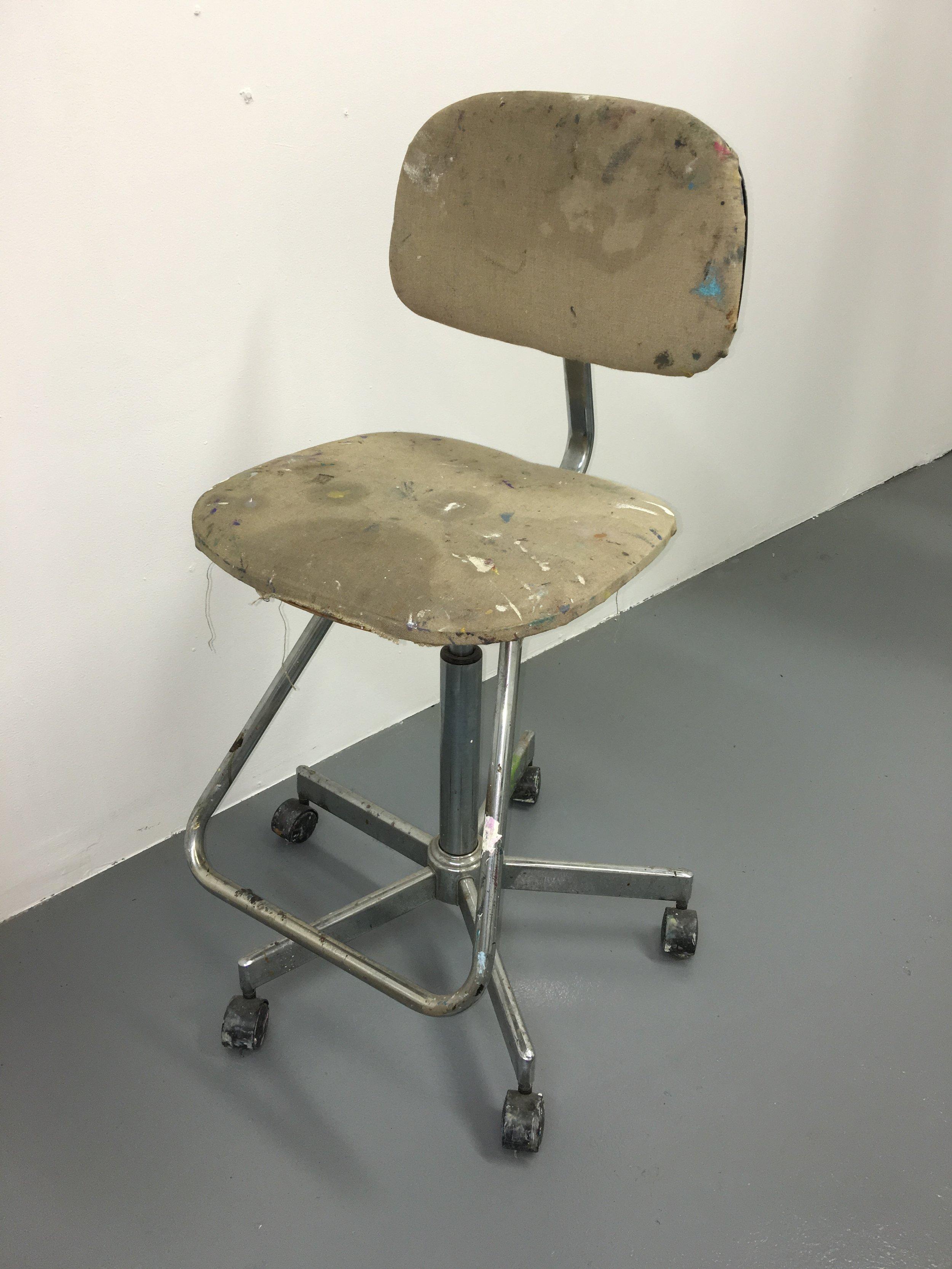 artist chair on wheels $50
