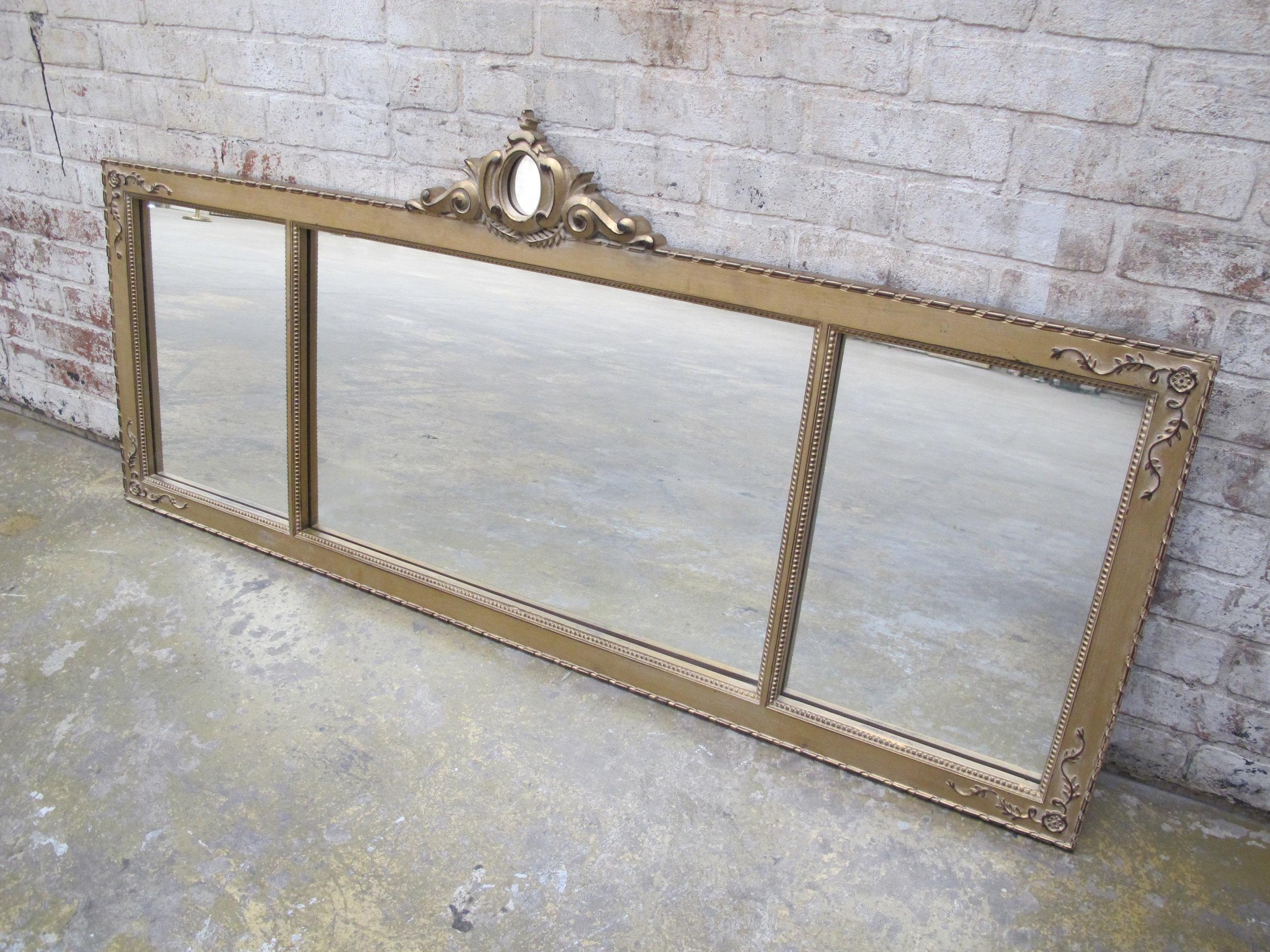 Gold Tri-Panel Mirror $300