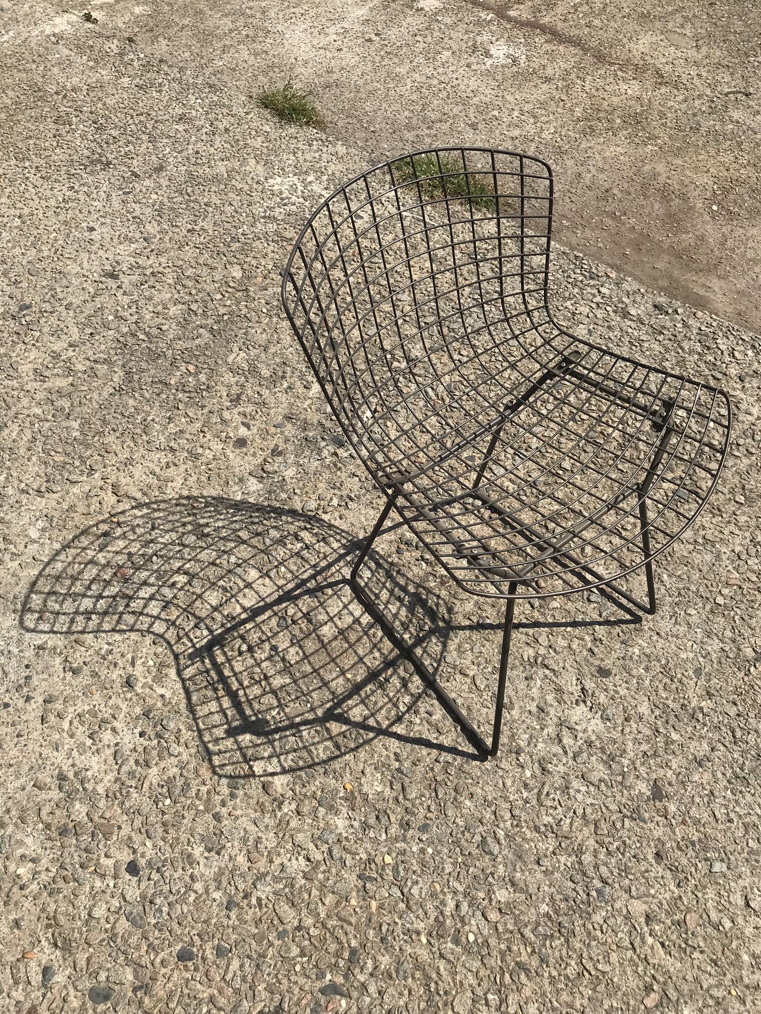 Black Grid Chair $55
