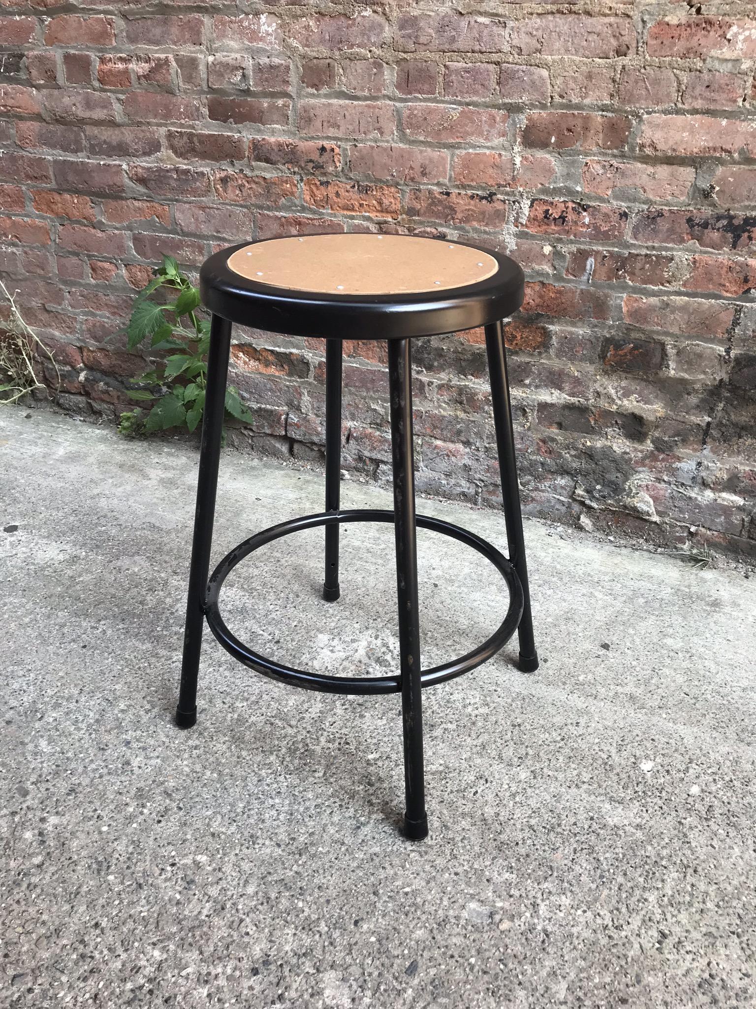 Black Industrial stool $40