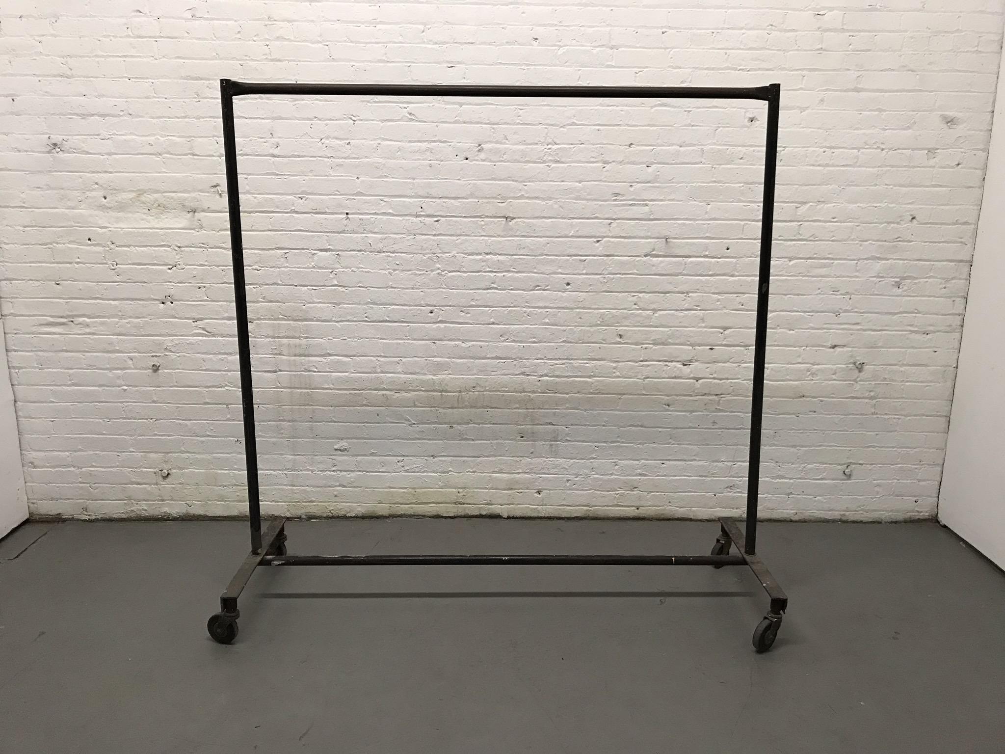 black metal garment rack $35