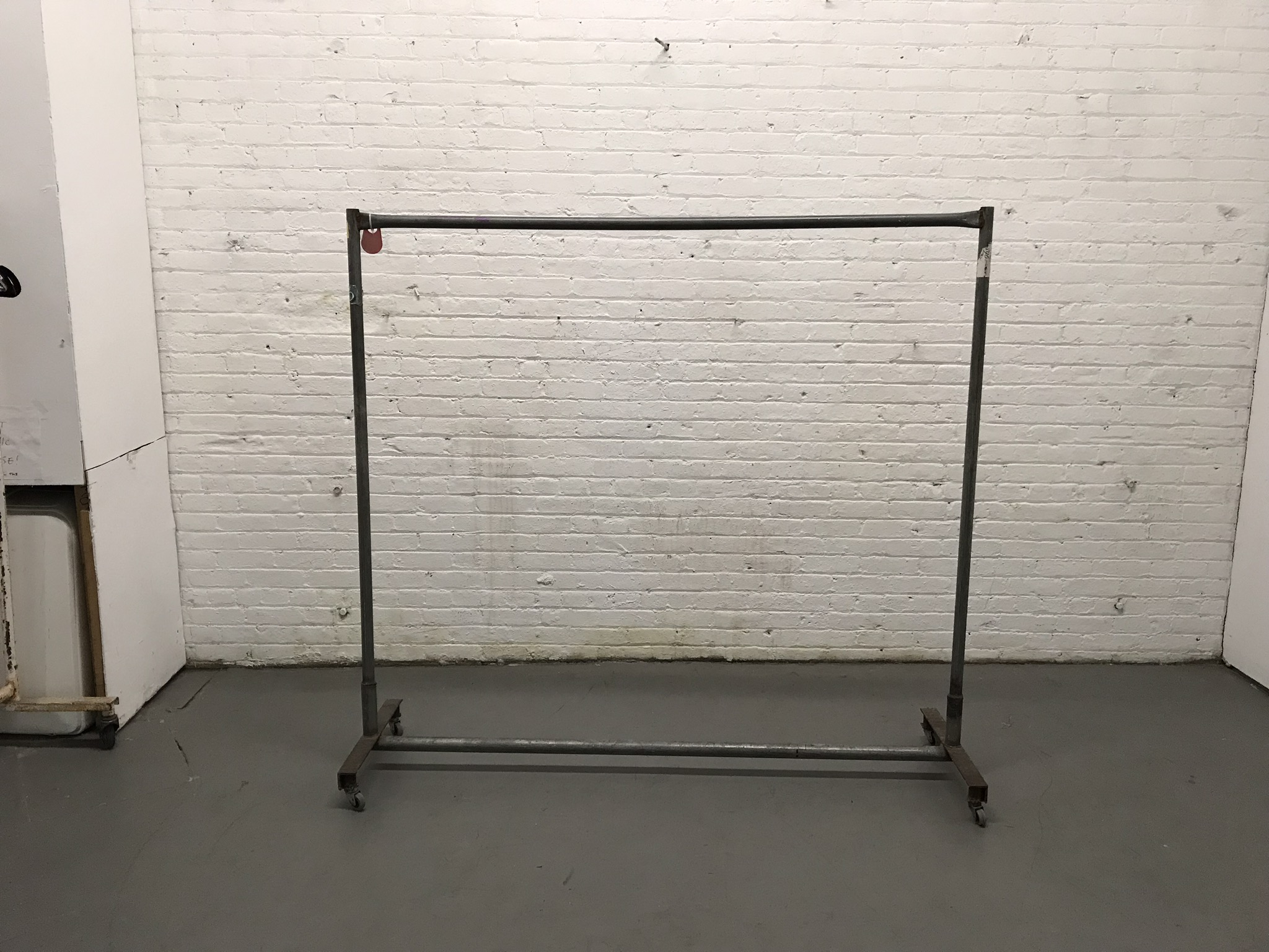 Grey metal garment rack $35