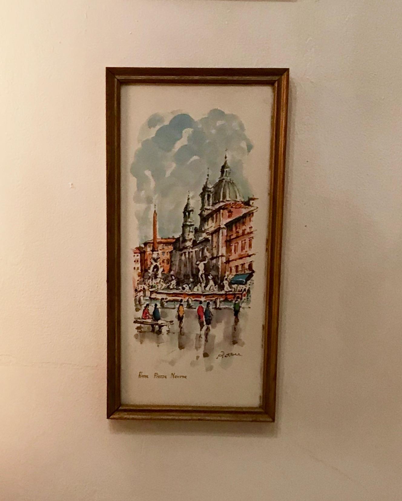 Framed Roma Piazza Navona $60