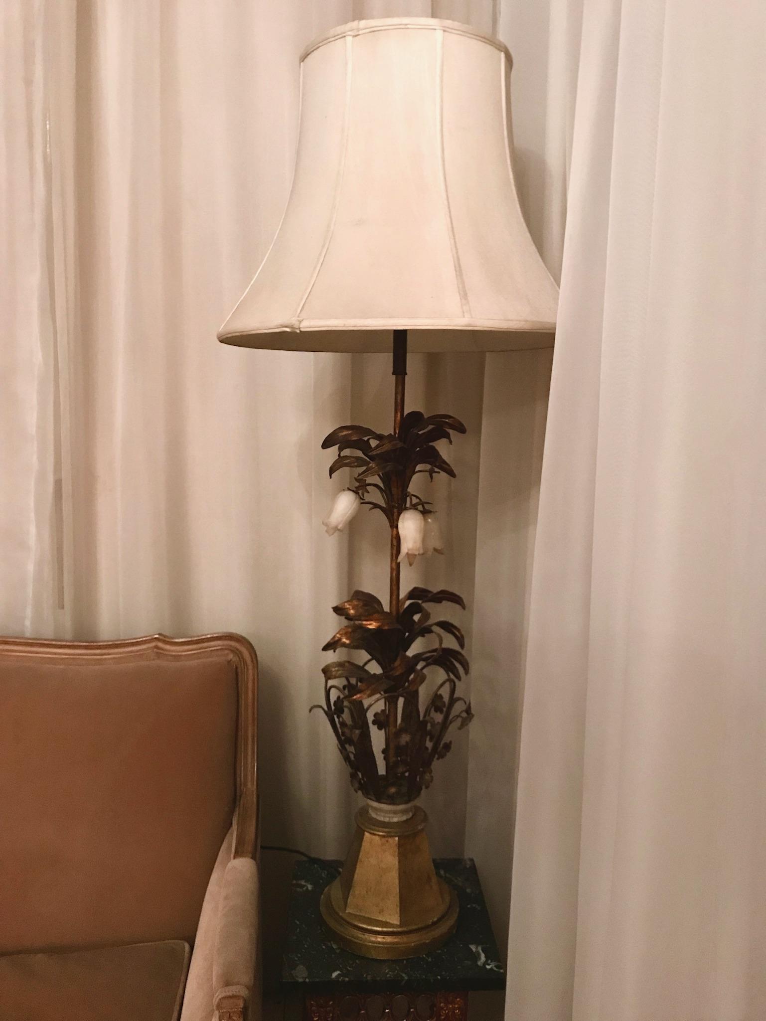 Dual Bulb Ornate tulip Lamp $90