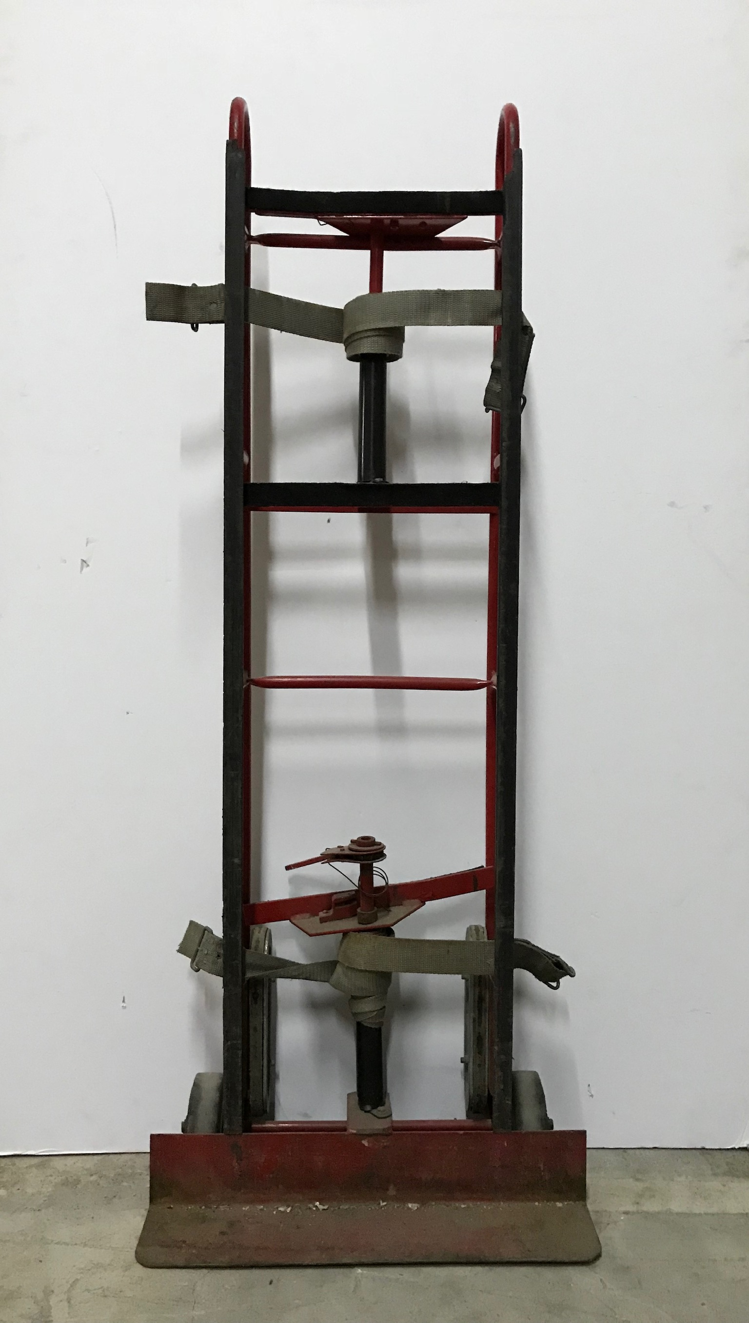 Red Hand Truck With Straps $75