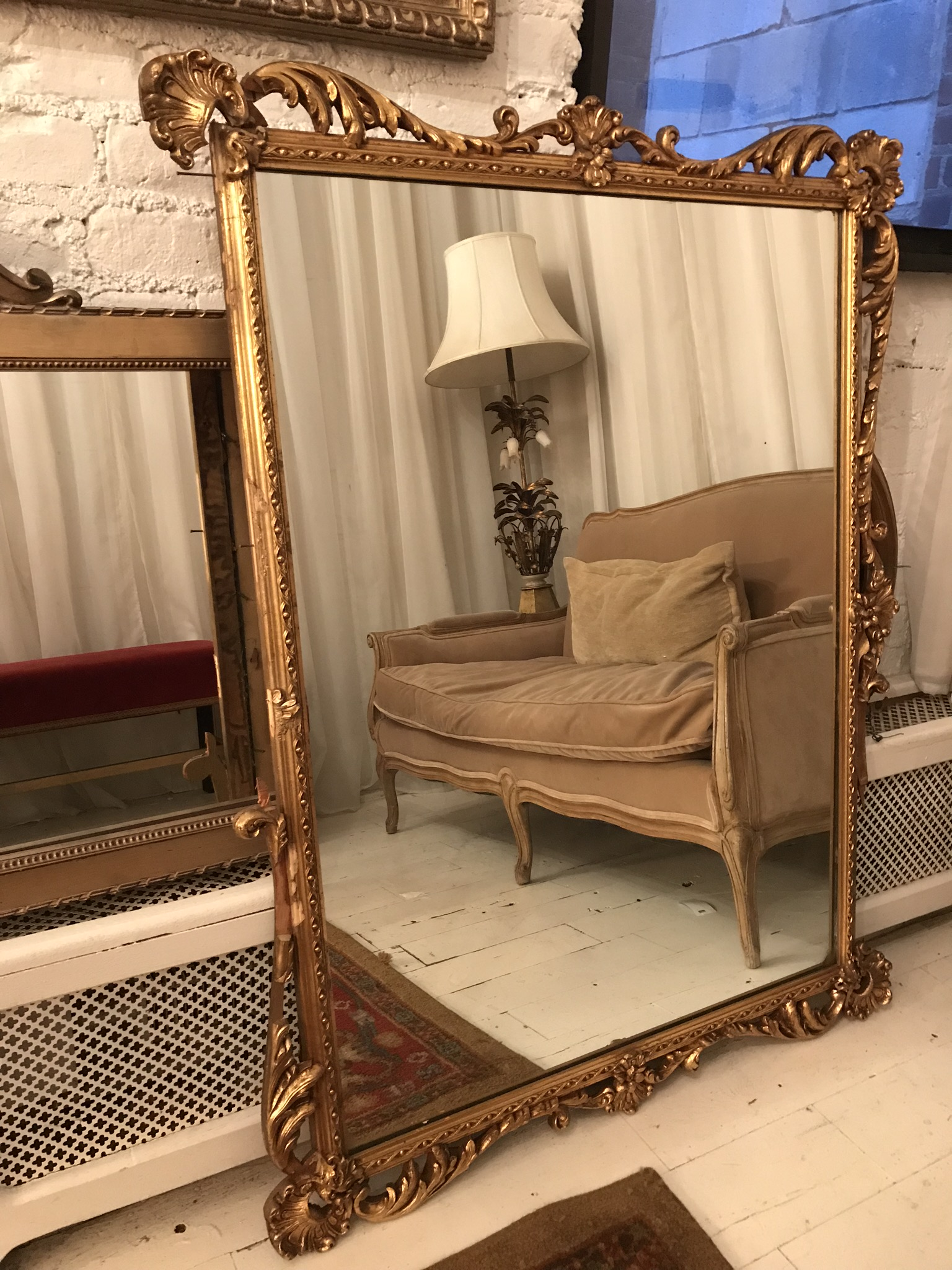 Large Gilded mirror $120