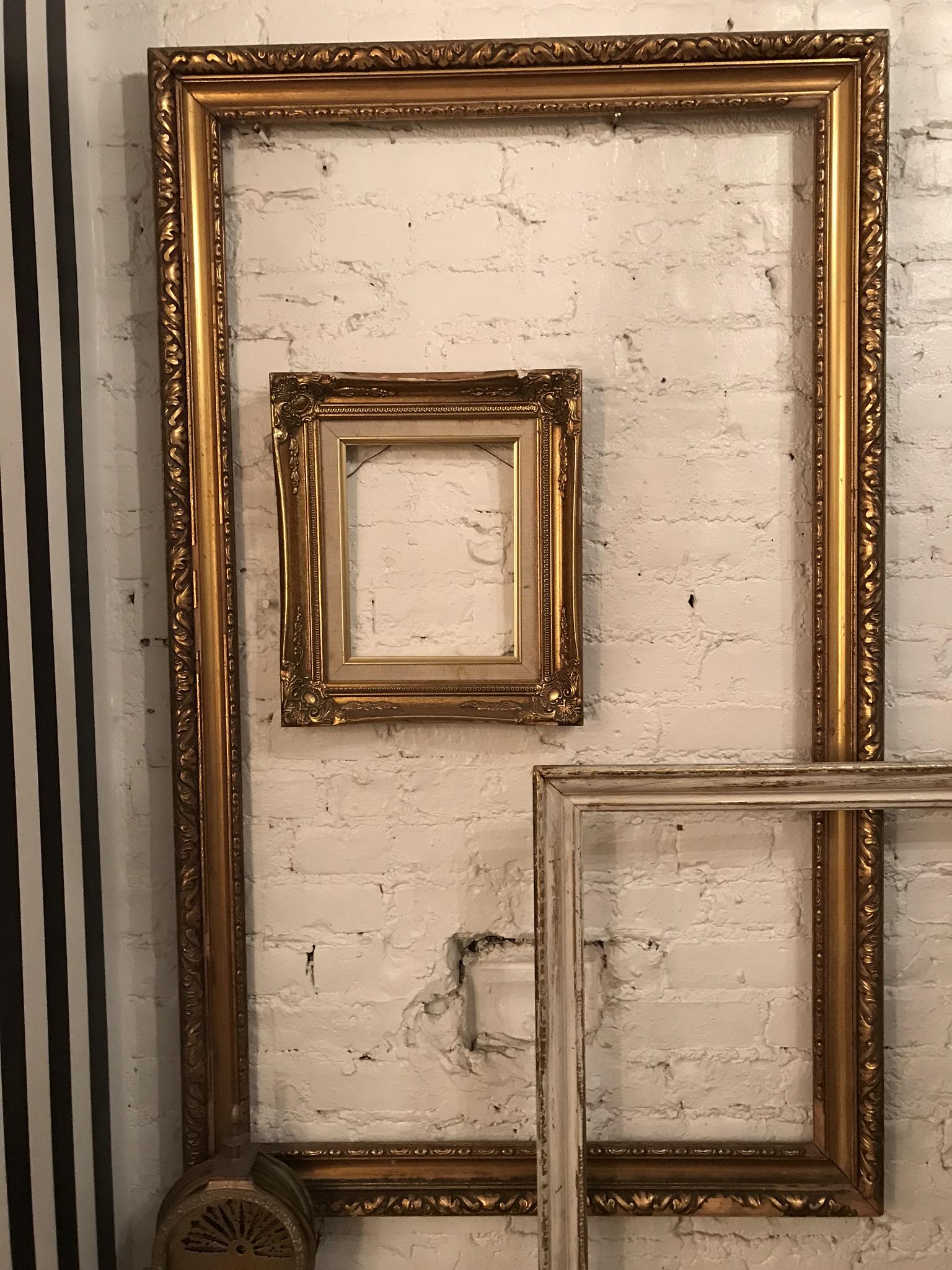 Large Beveled Gold frame $45