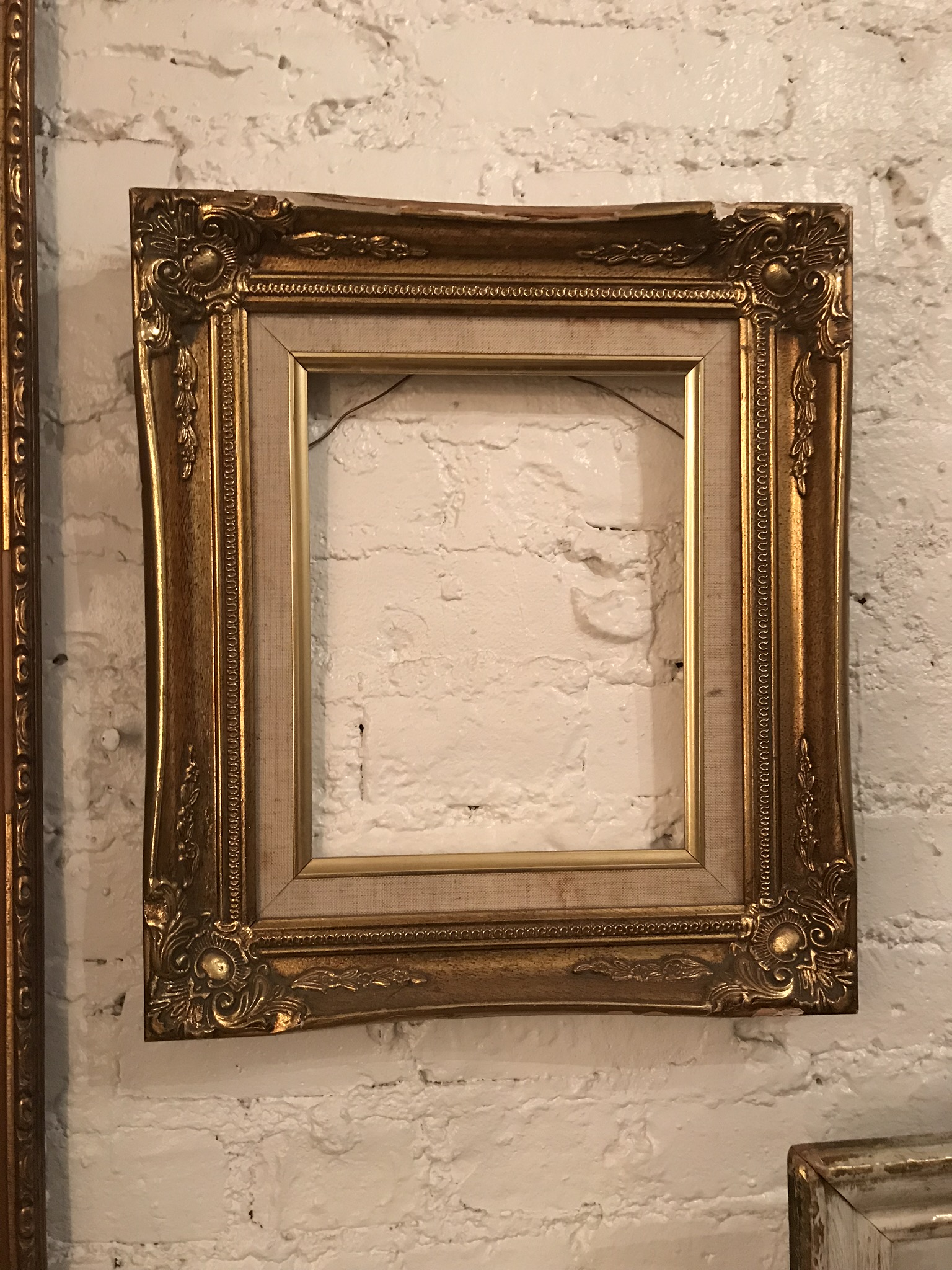 Small Beveled Gold Frame $35