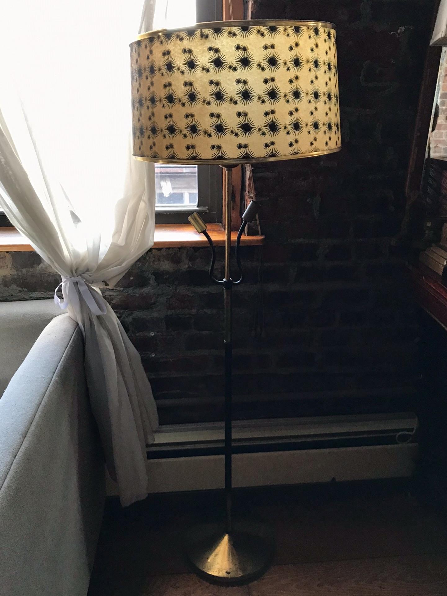 Starburst Pattern Standing Lamp $50