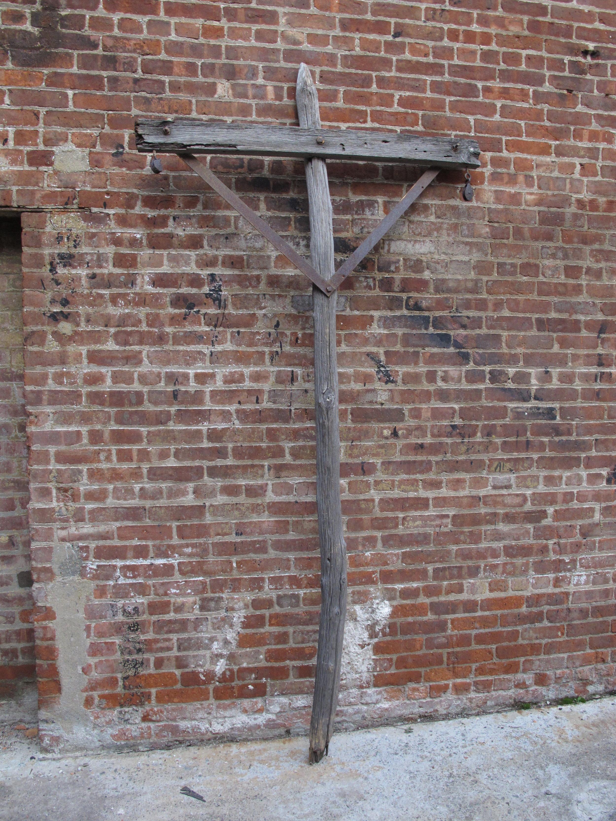 Wooden Cross-Post w/Metal Reinforcements $80